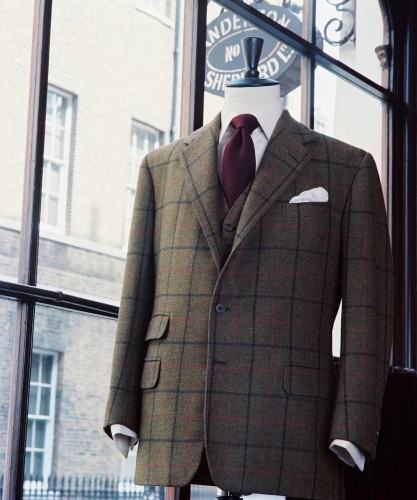 Savile row tailors house style