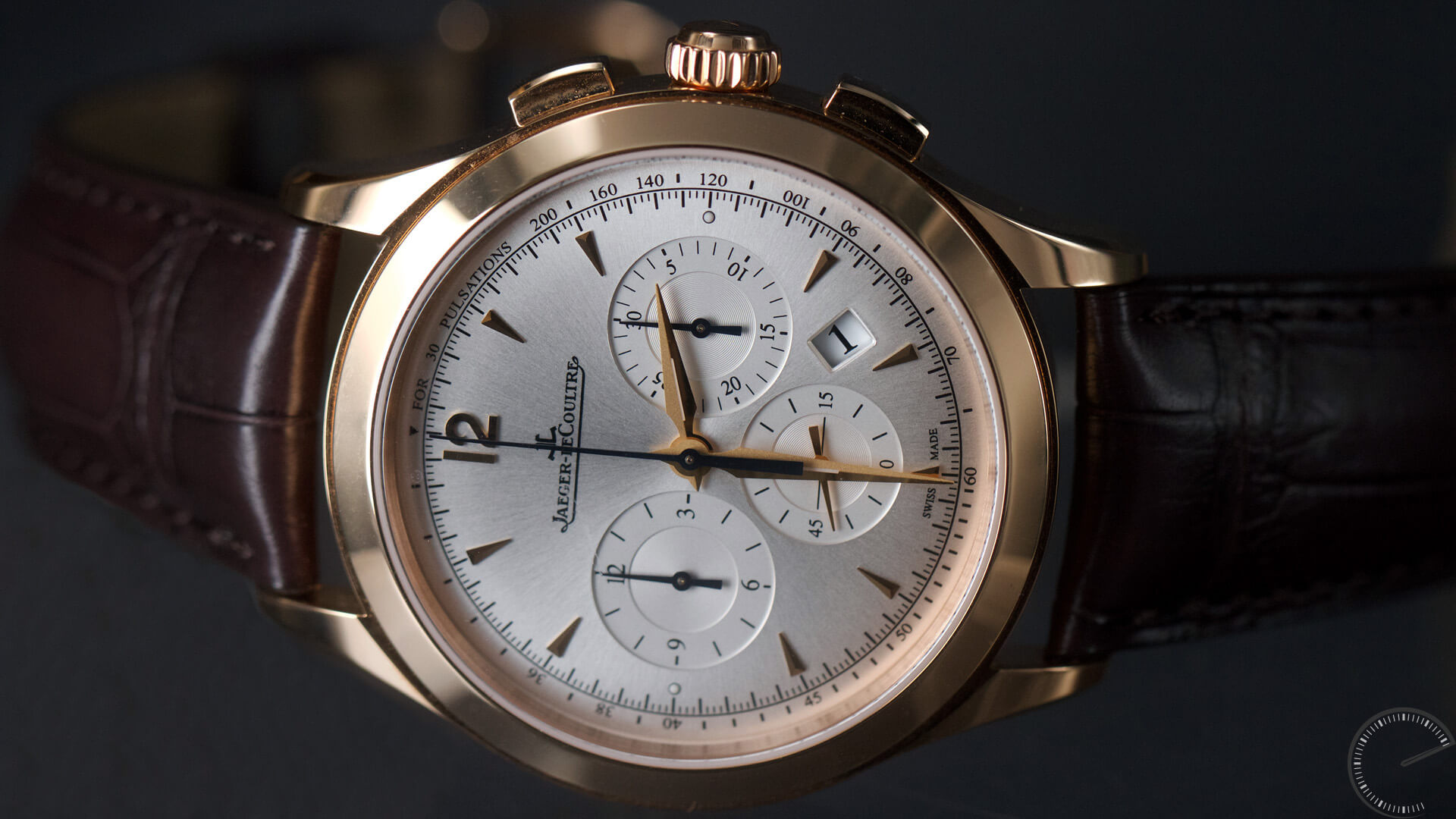 Jaeger lecoultre master control master chronograph in 18 carat pink gold escapement magazine for Chronograph master