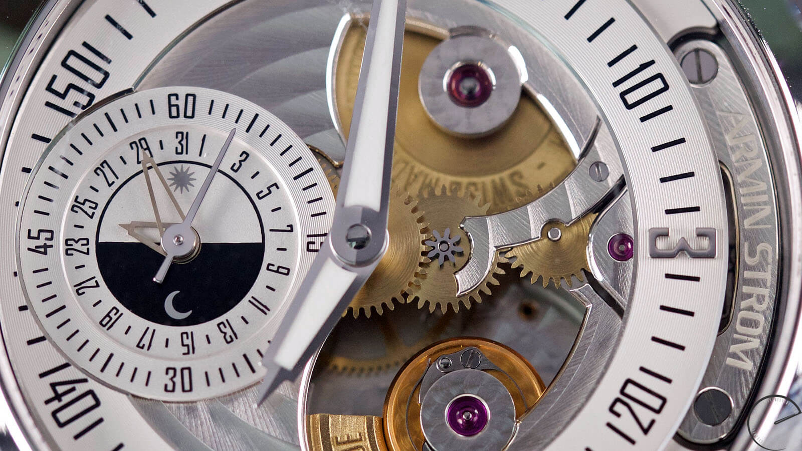 Image of Armin Strom Gravity Date Water with openworked dial