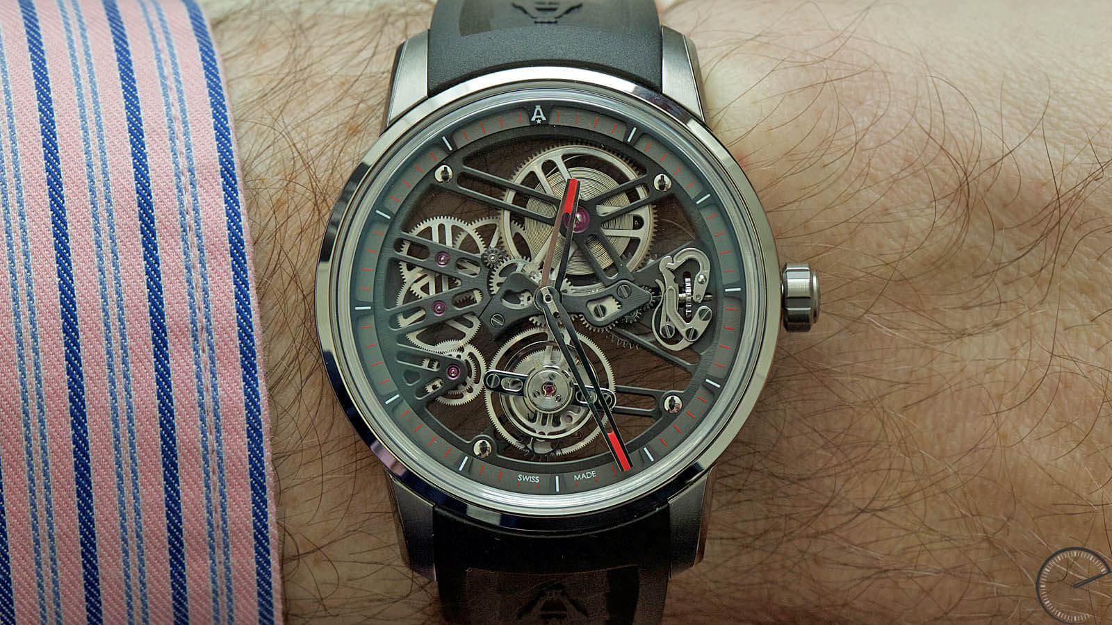 Image of Angelus U40 Racing Tourbillon Skeleton - open-worked flying tourbillon watch