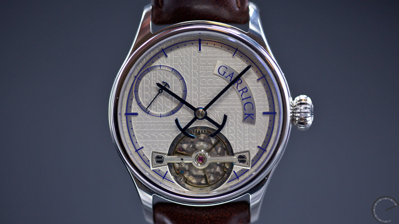 Image of Garrick Portsmouth - eaturing an exclusive hand-wound movement and, specifically, a prominent balance bridge