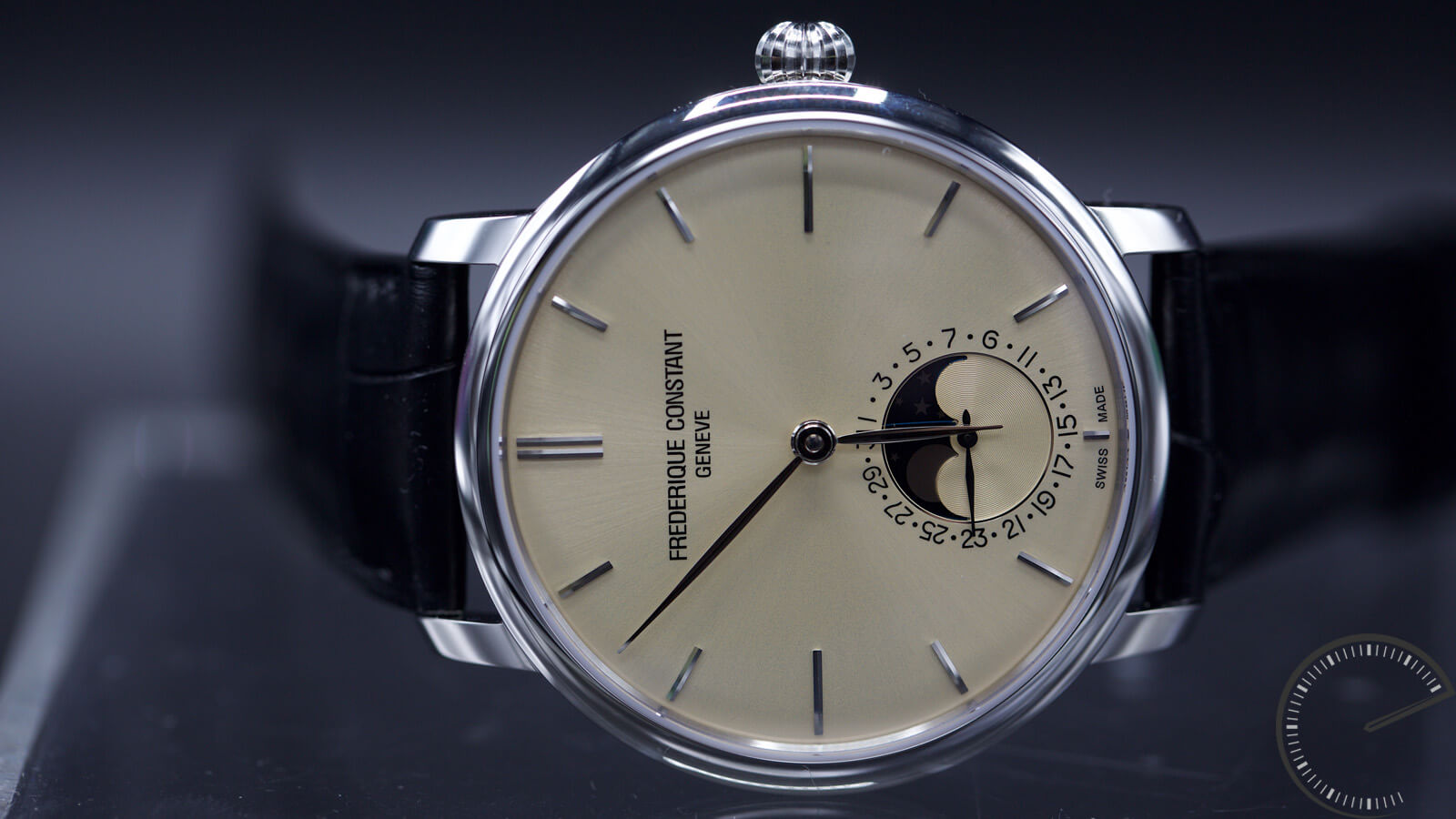 Frederique Constant Slimline Moonphase Manufacture - new Ivory dial