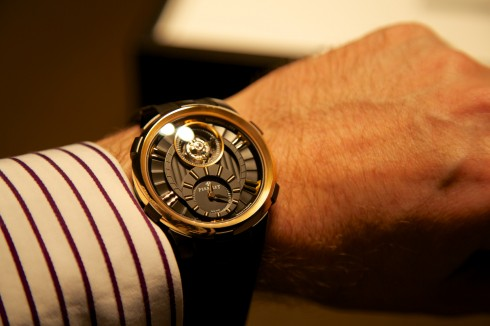 Perrelet Black and Gold Tourbillon