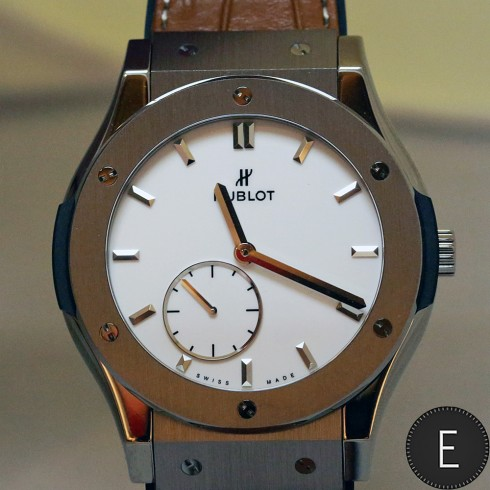 Hublot Classic Fusion Ultra-Thin Titanium White Shiny Dial - in-depth watch review by ESCAPEMENT
