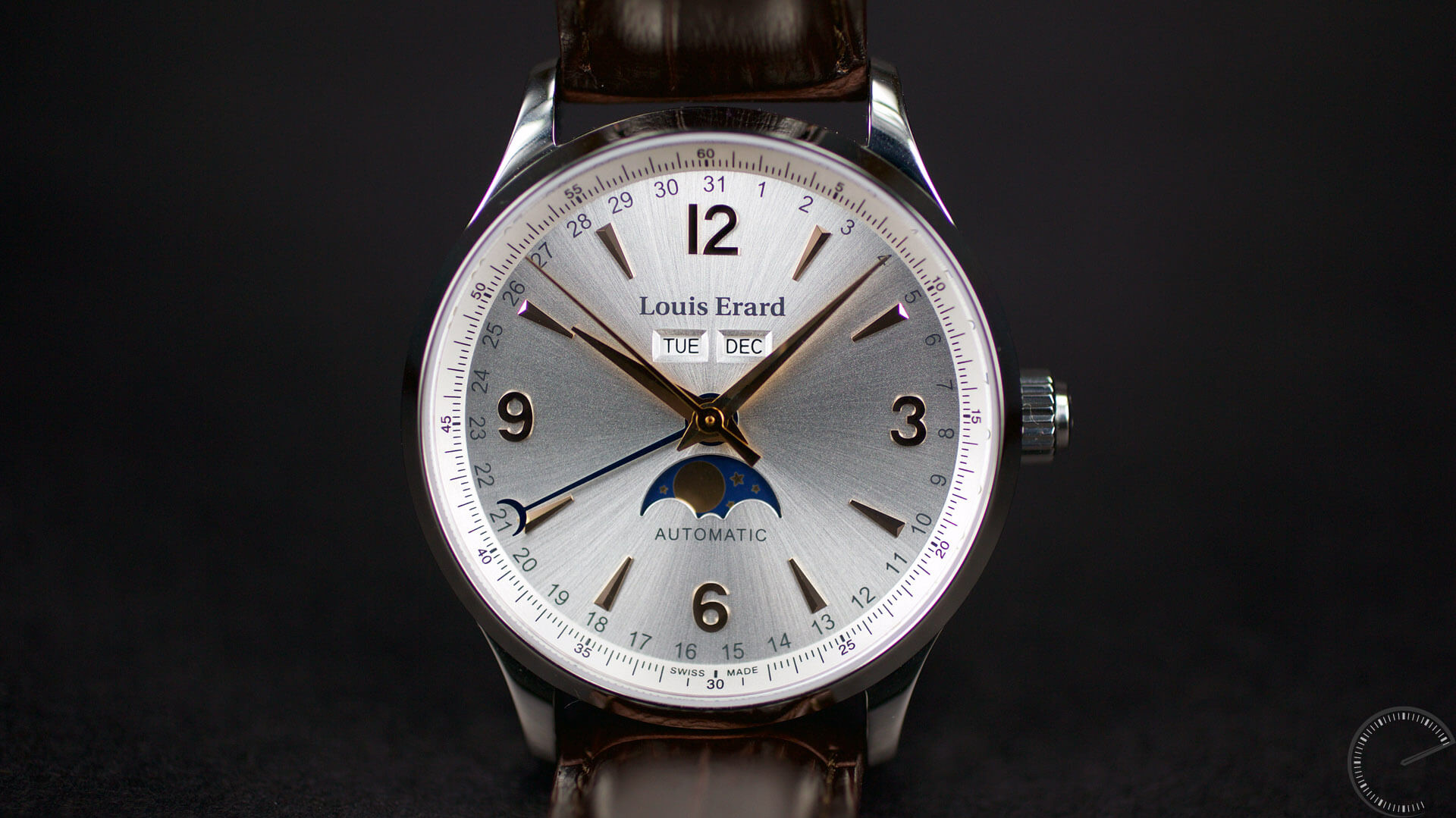 Louis Erard 1931 Moonphase - ESCAPEMENT - watch review magazine by Angus Davies