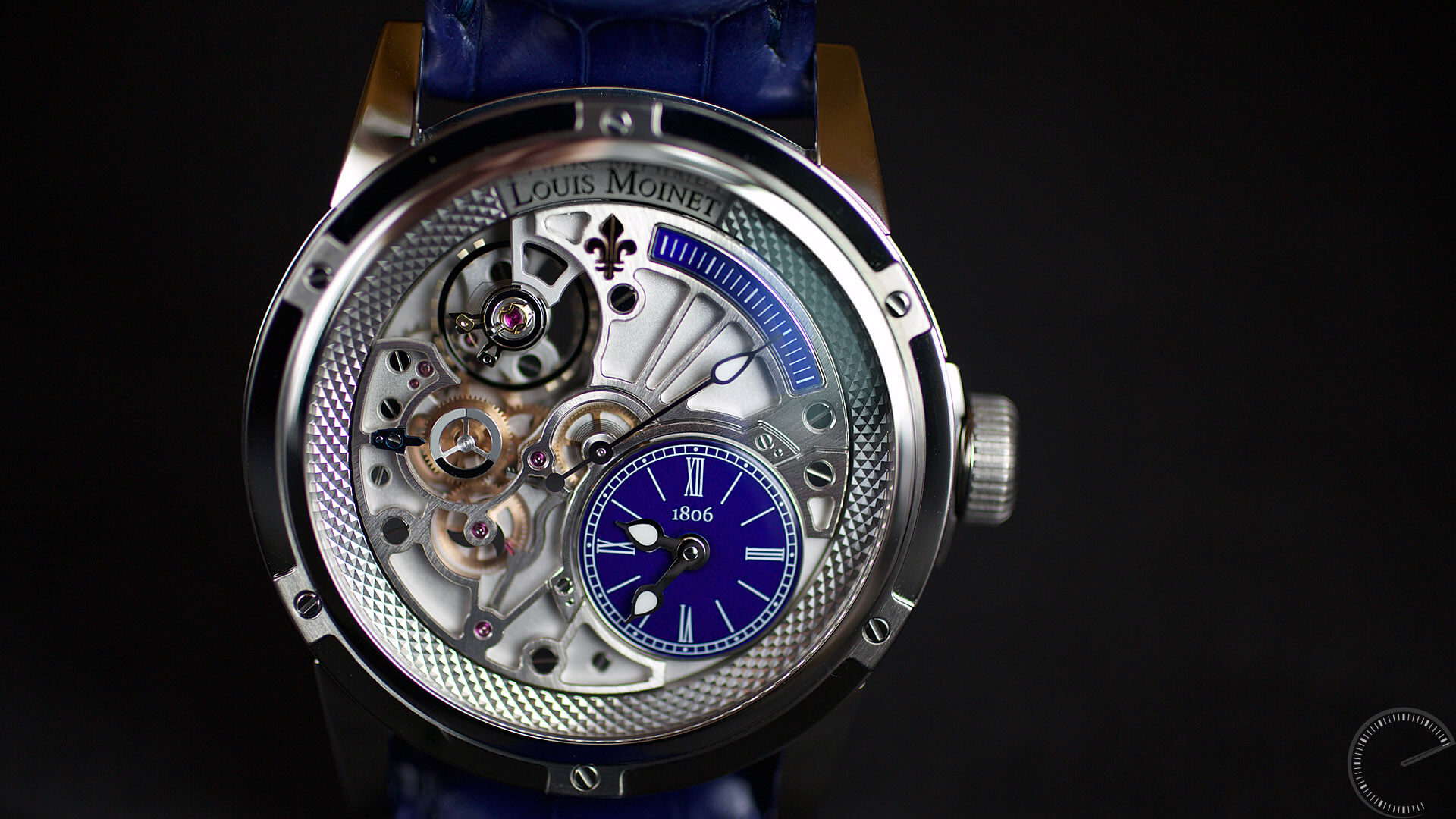 Louis moinet 20 second tempograph deep blue louis moinet watch review for Louis moinet watch