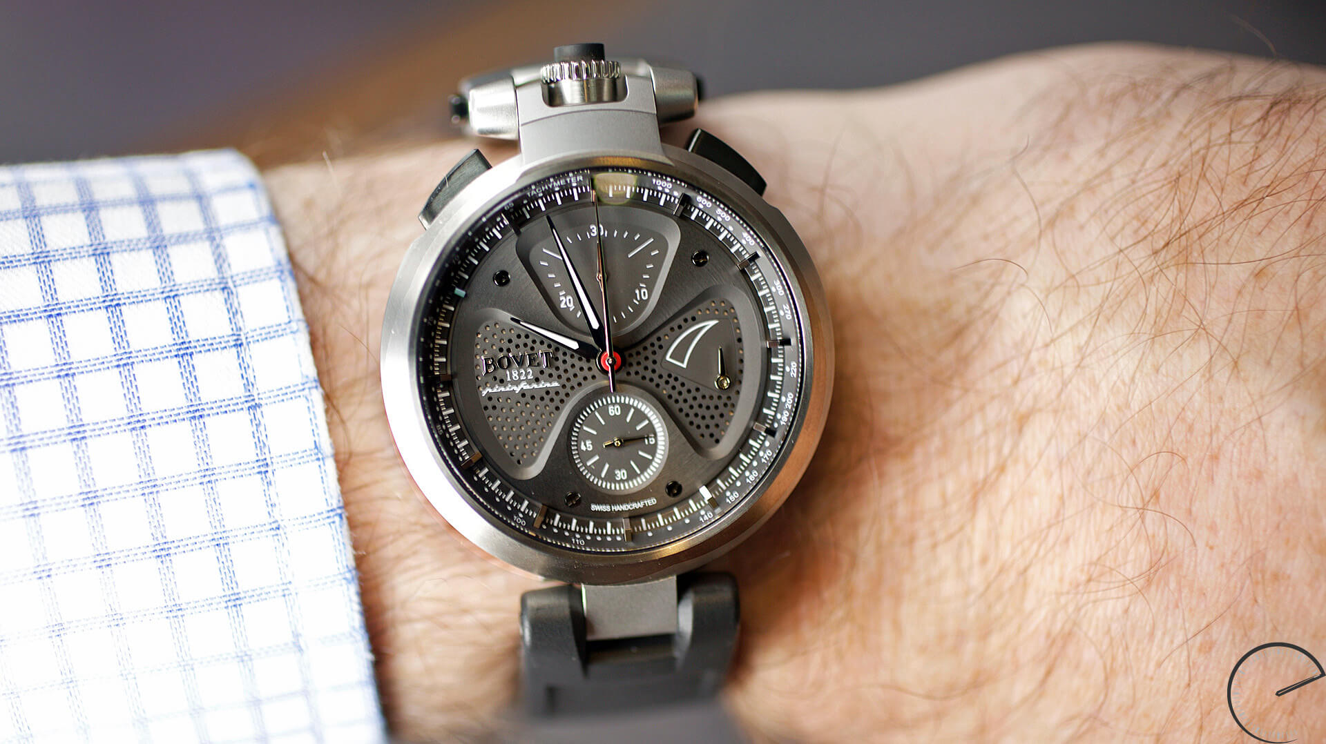 Bovet by Pininfarina 'Sergio' Split-Second Chronograph - ESCAPEMENT - watch review website by Angus Davies