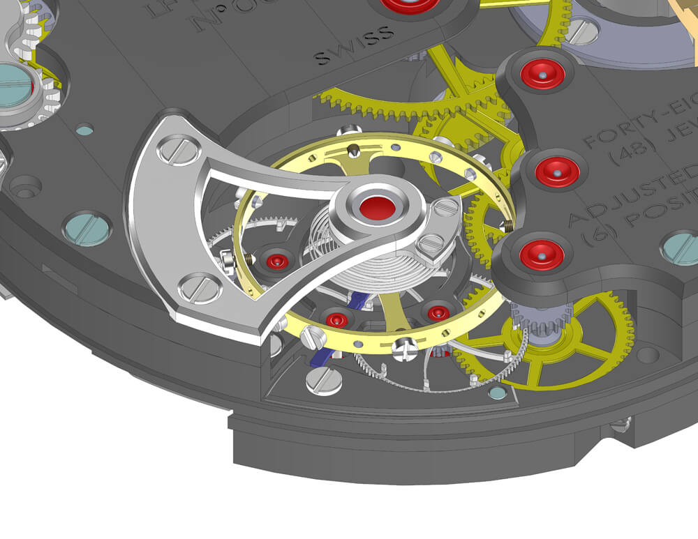 Laurent Ferrier CAD drawing - ESCAPEMENT magazine by Angus Davies
