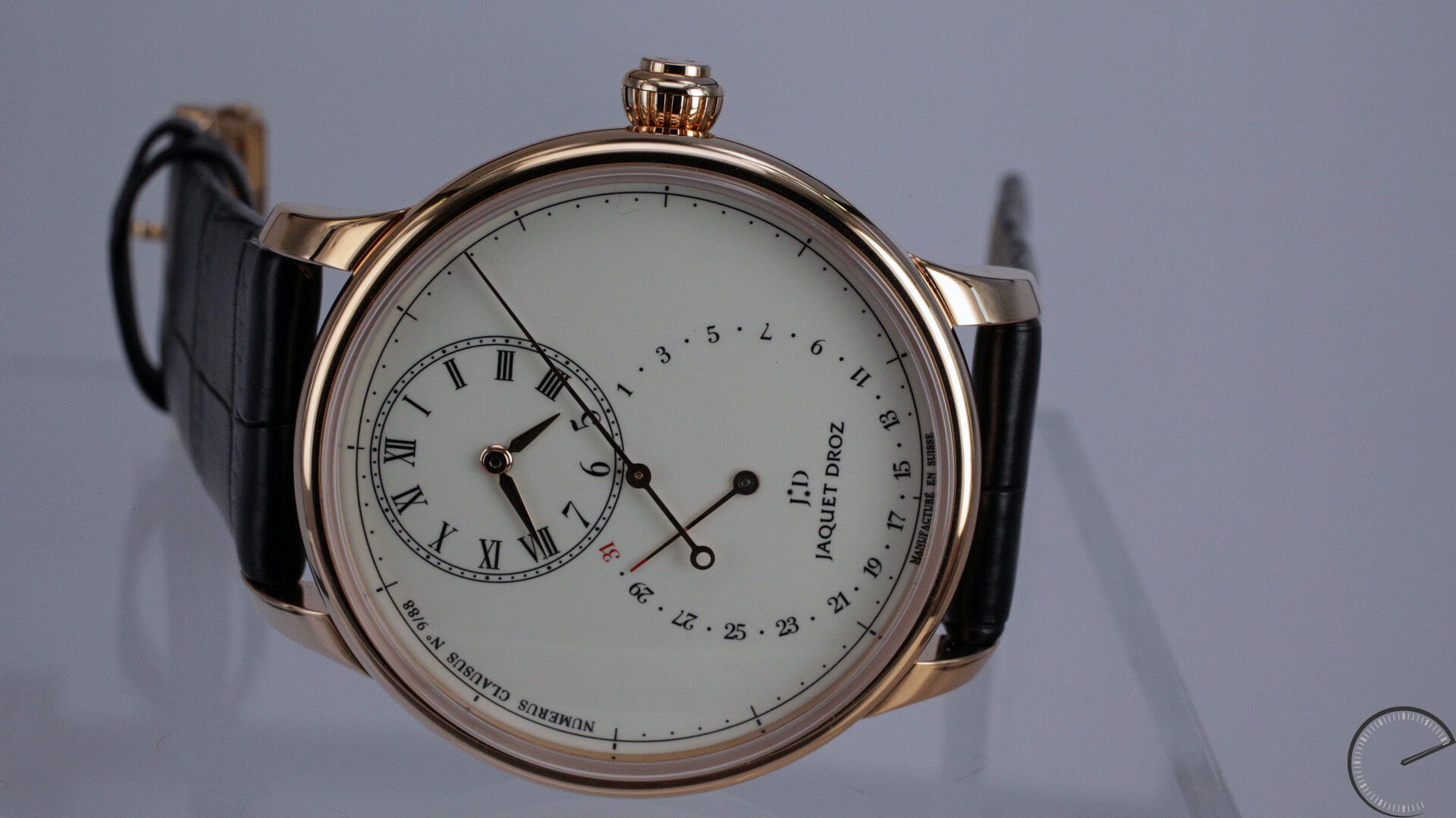 Jaquet_Droz_Grande_Seconde_Deadbeat_sideview - ESCAPEMENT watch reviews by Angus Davies