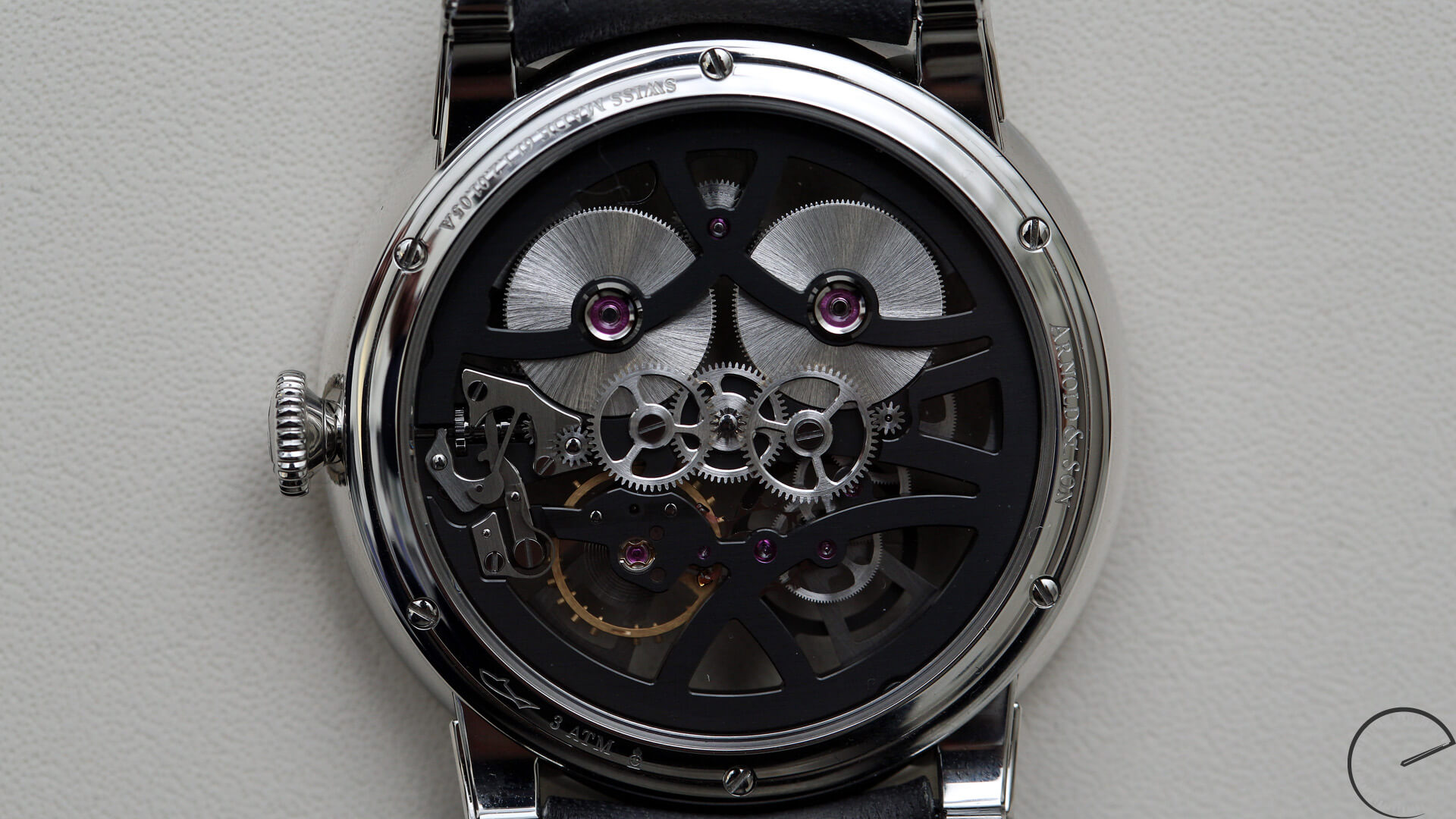 Arnold_and_Son_Nebula_caseback - ESCAPEMENT magazine - watch reviews by Angus Davies
