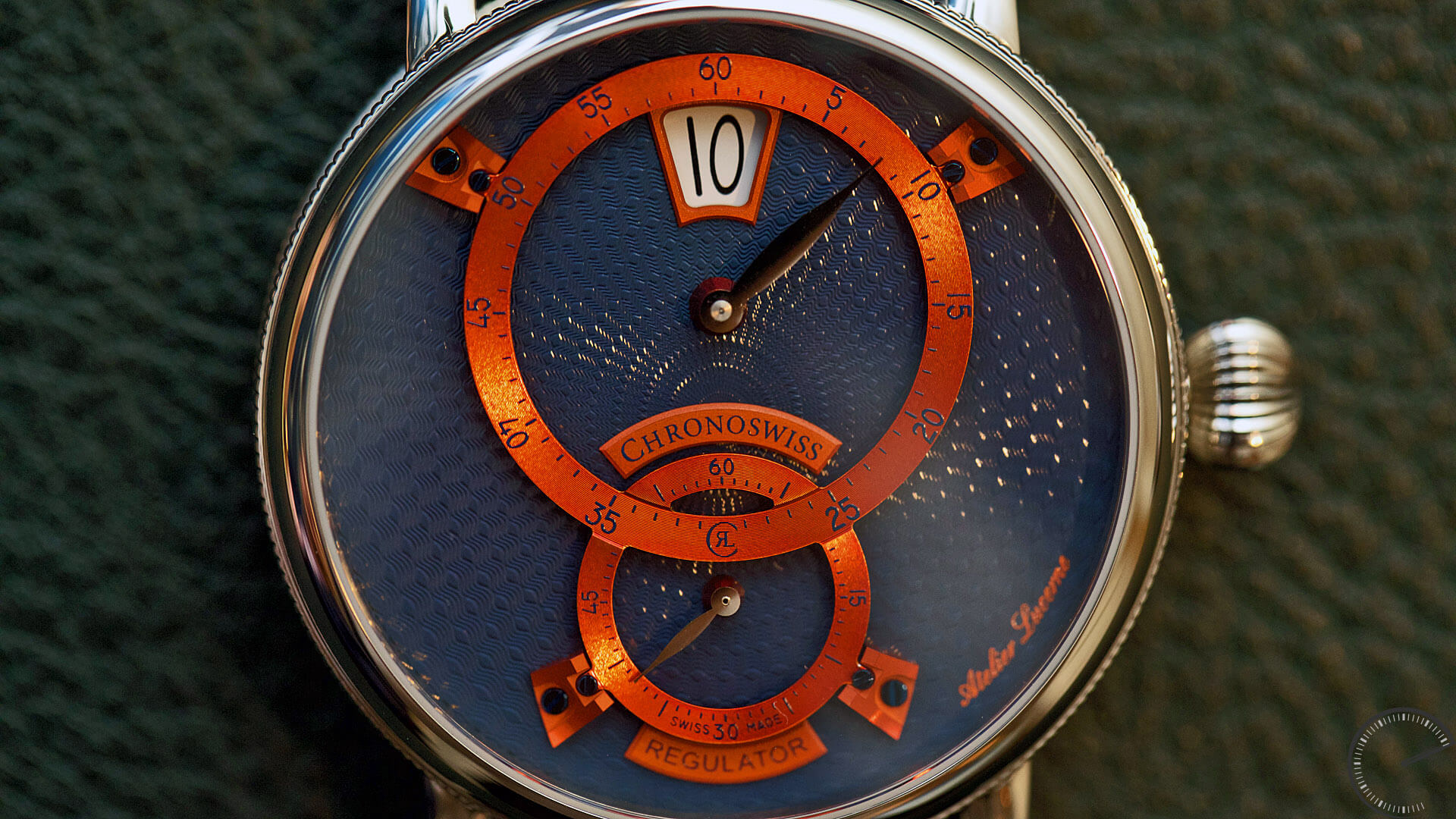 Chronoswiss_Sirius_Flying_Regulator_Jumping_Hour_Ref.CH-8323-BLOR_dial - ESCAPEMENT magazine by Angus Davies