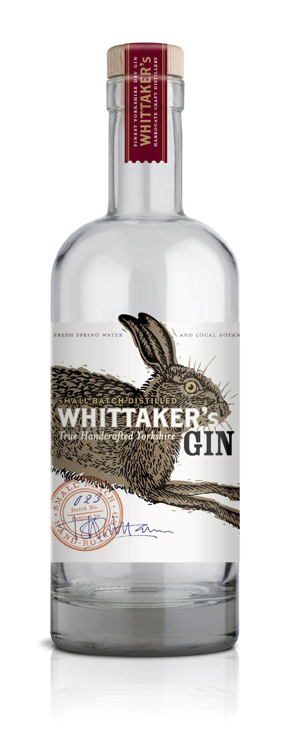 Whittaker's Gin Bottle Image - ESCAPEMENT Magazine by Angus Davies