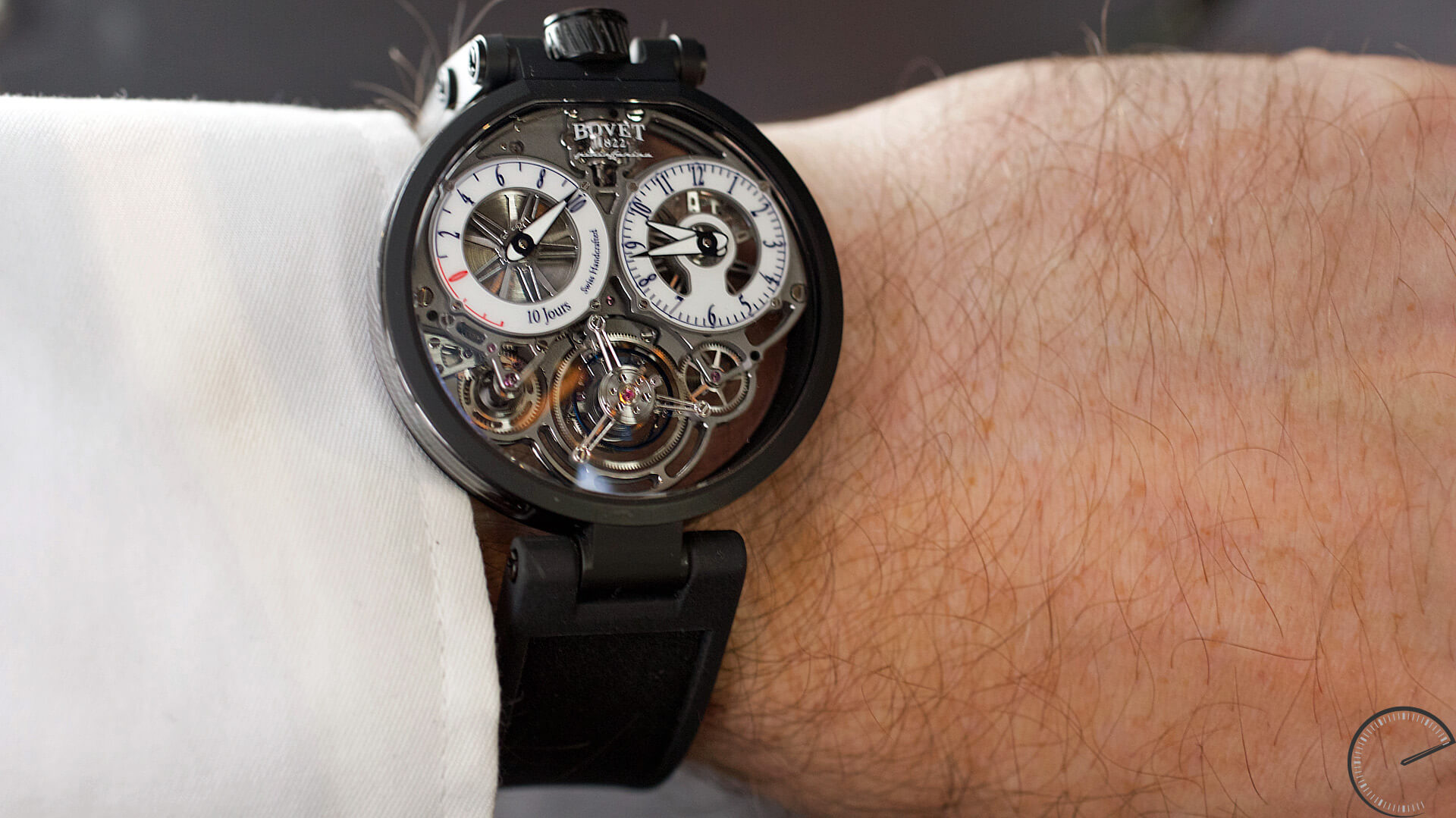 Bovet_Flying_Tourbillon_Ottanta_Sei_Wrist1 - ESCAPEMENT magazine - watch reviews by Angus Davies