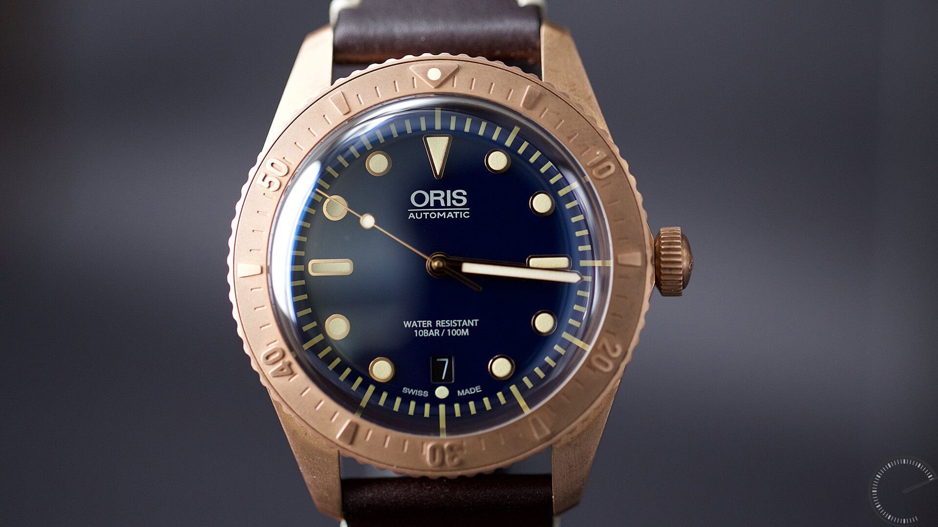Oris_Carl_Brashear_Limited_Edition_dial - ESCAPEMENT magazine - watch reviews by Angus Davies
