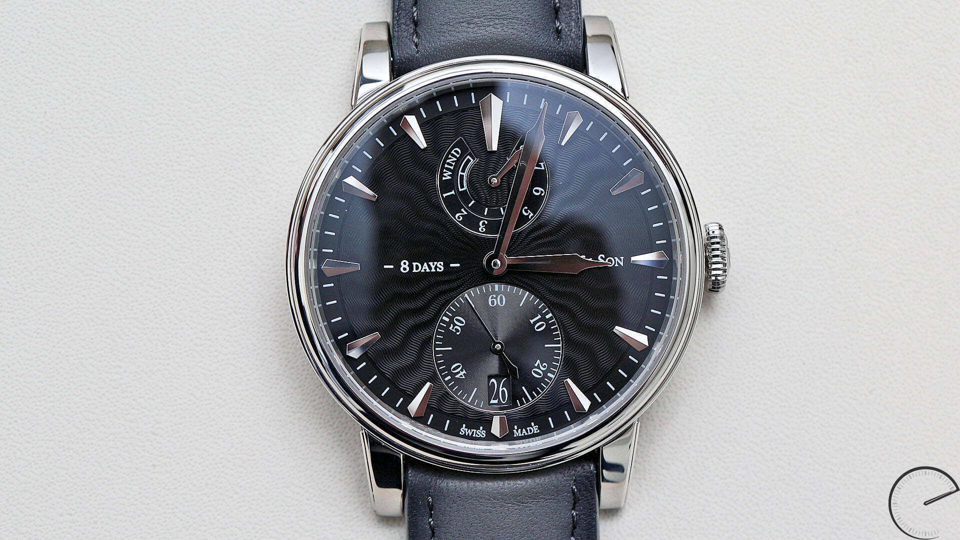 Arnold_and_Son_Eight-Day_Royal_Navy_black dial_case - ESCAPEMENT MAGAZINE - reviews of fine wristwatches by Angus Davies