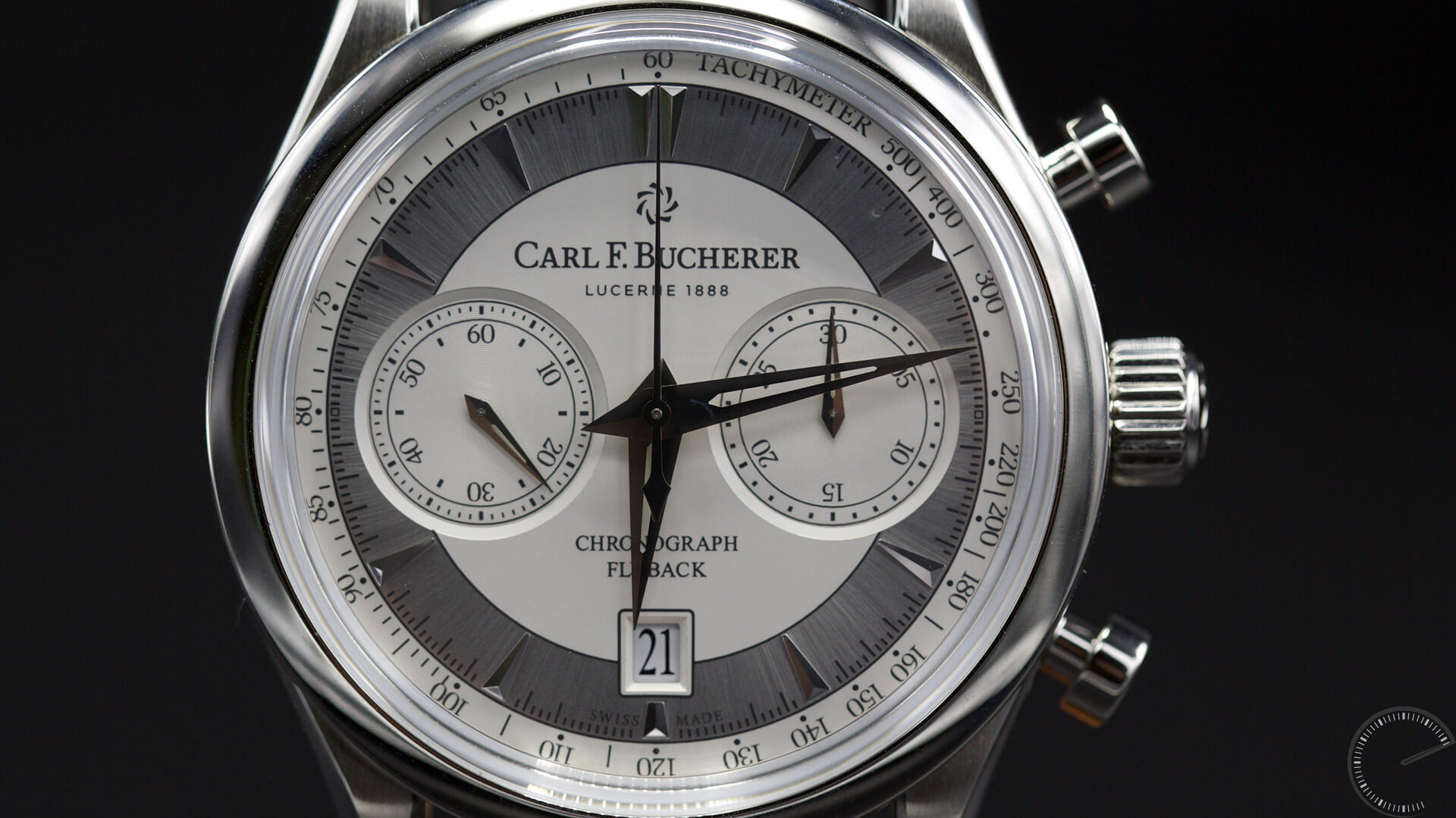 Carl_F._Bucherer_Manero_Flyback_dial2 - ESCAPEMENT MAGAZINE - watch reviews by Angus Davies