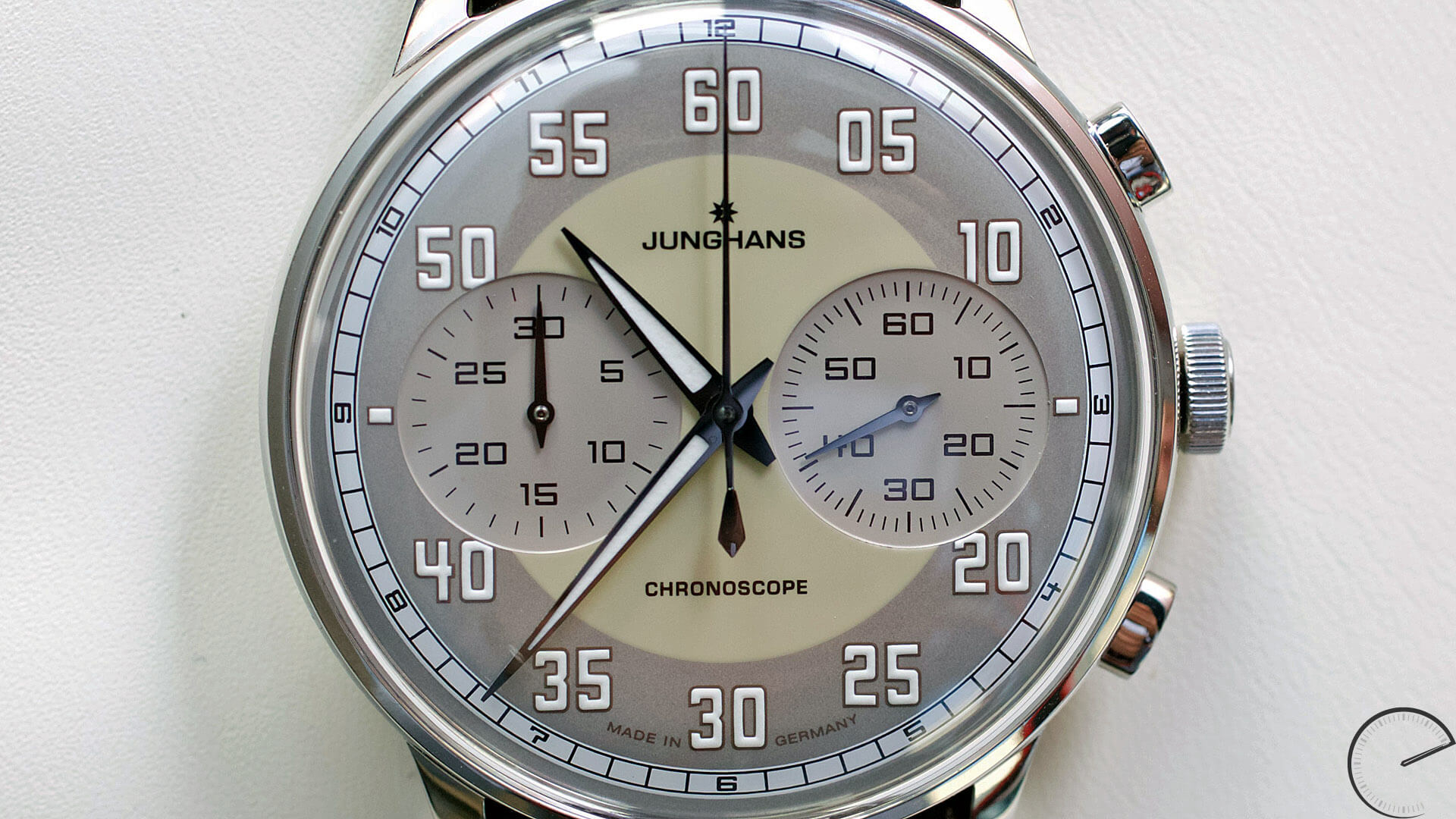 Junghans_Meister_Driver_Chronoscope_dial - ESCAPEMENT magazine - watch blog by Angus Davies
