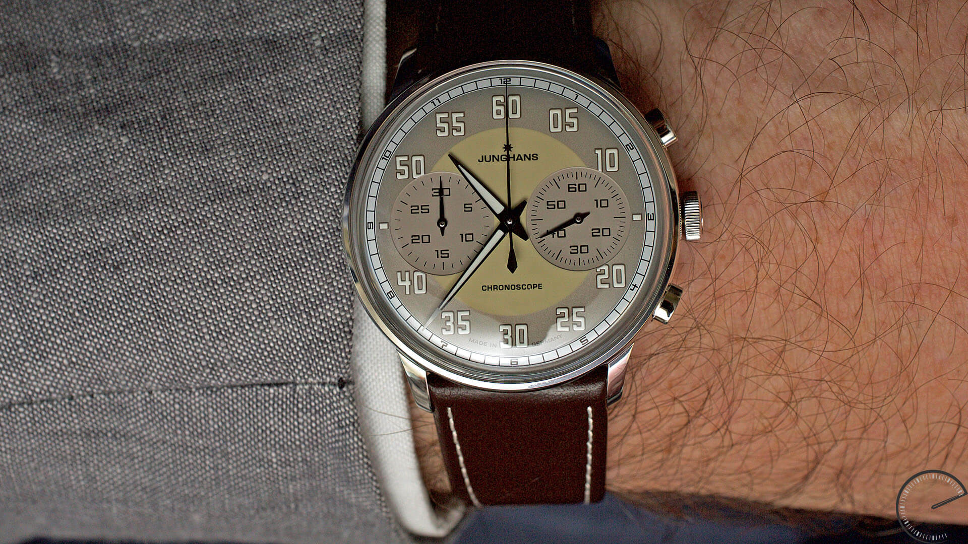 Junghans_Meister_Driver_Chronoscope_wrist - ESCAPEMENT magazine - watch blog by Angus Davies