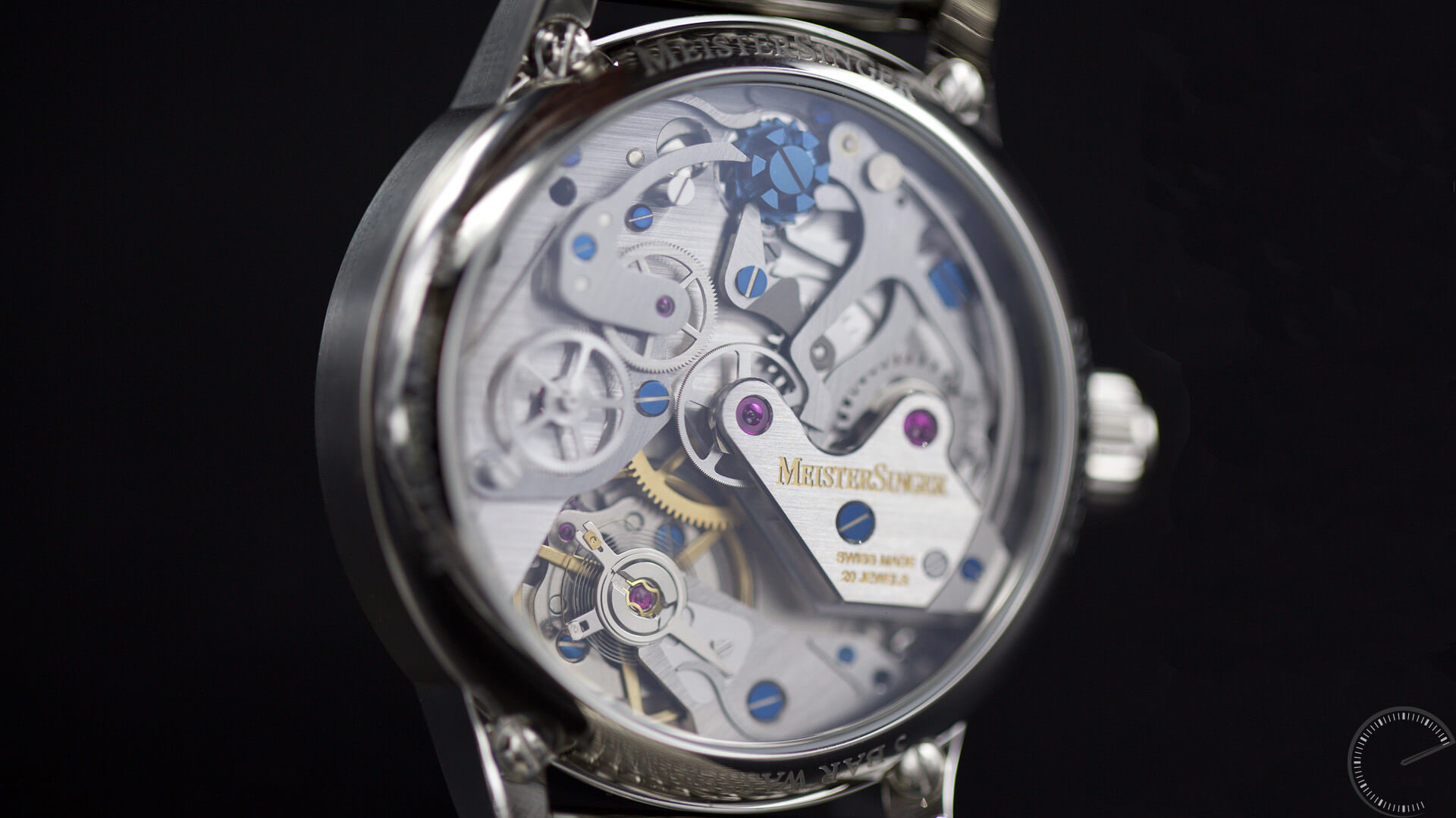 MeisterSinger_Paleograph_Single_Push_Column_Wheel_Chronograph_caseback - ESCAPEMENT Magazine - watch reviews by Angus Davies