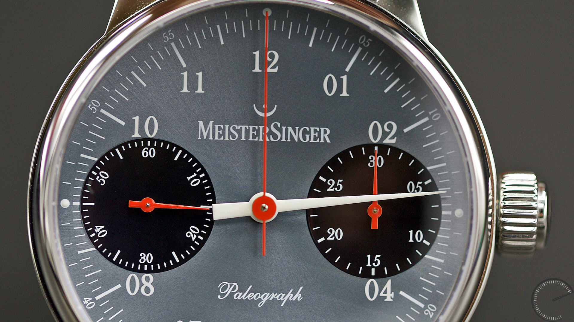 MeisterSinger_Paleograph_Single_Push_Column_Wheel_Chronograph_subdials - ESCAPEMENT Magazine - watch reviews by Angus Davies