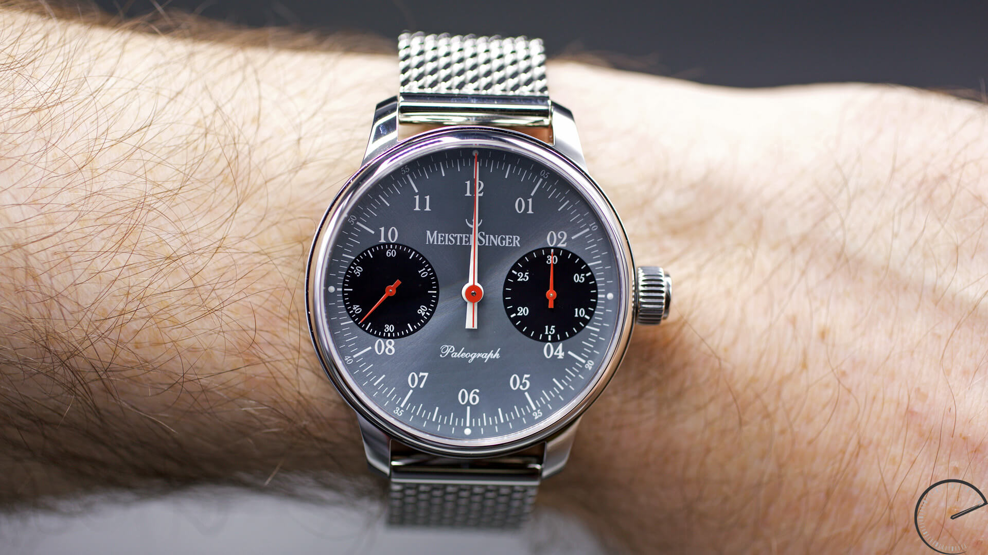 MeisterSinger Paleograph Single Push Column Wheel Chronograph