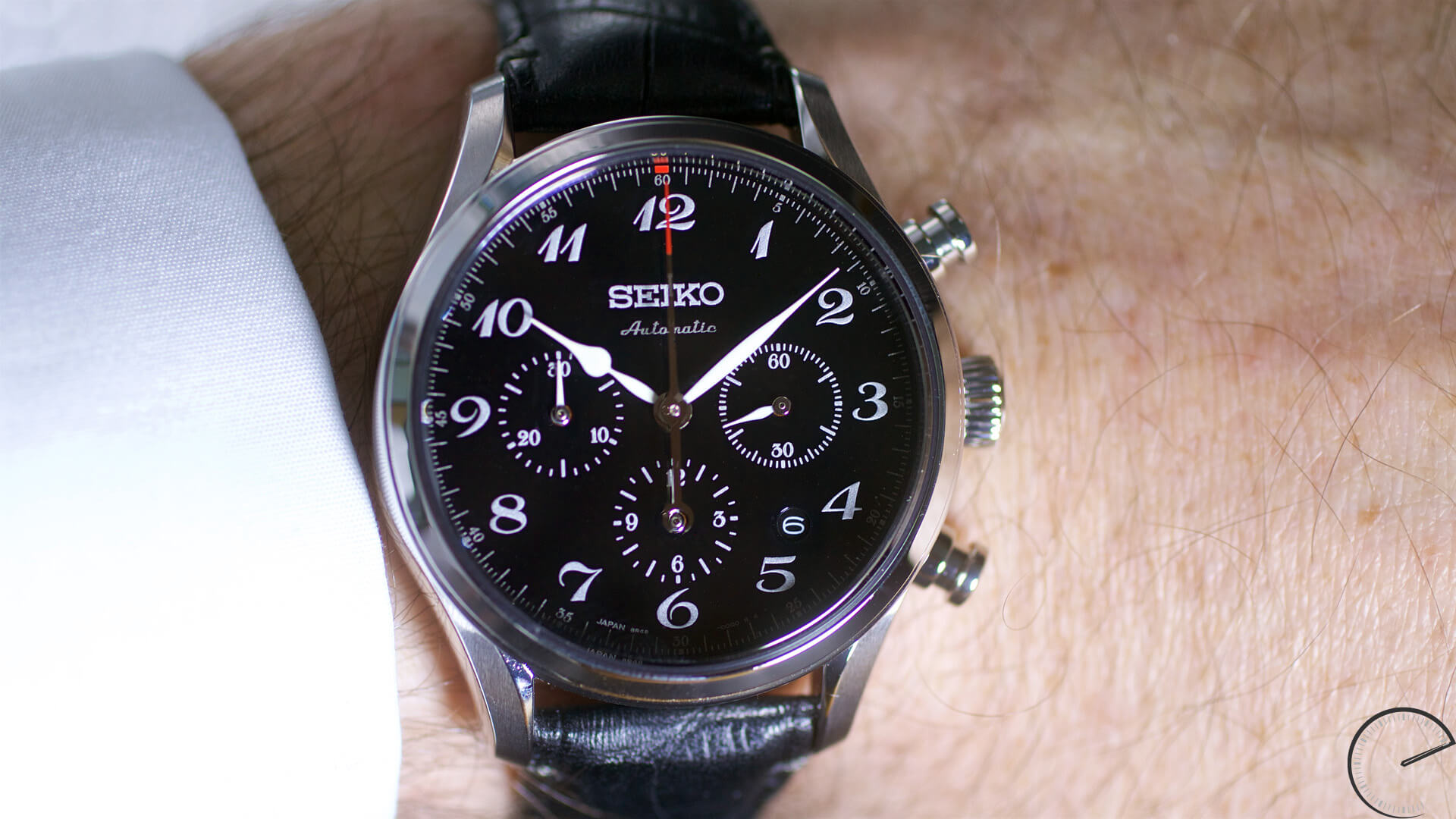 Seiko_Presage_60th_Anniversary_Chronograph_SRQ021_wrist1 - ESCAPEMENT magazine - haute horlogerie website