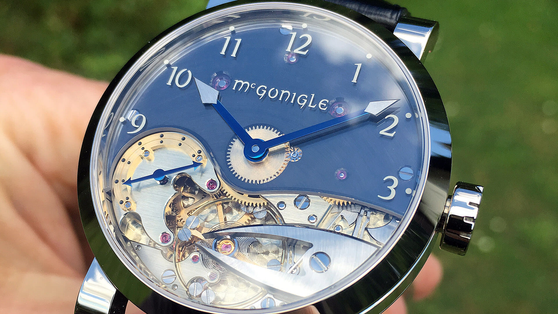 Image of McGonigle Tuscar Bánú in white gold produced by John McGonigle and Stephen McGonigle - Irish watchmakers