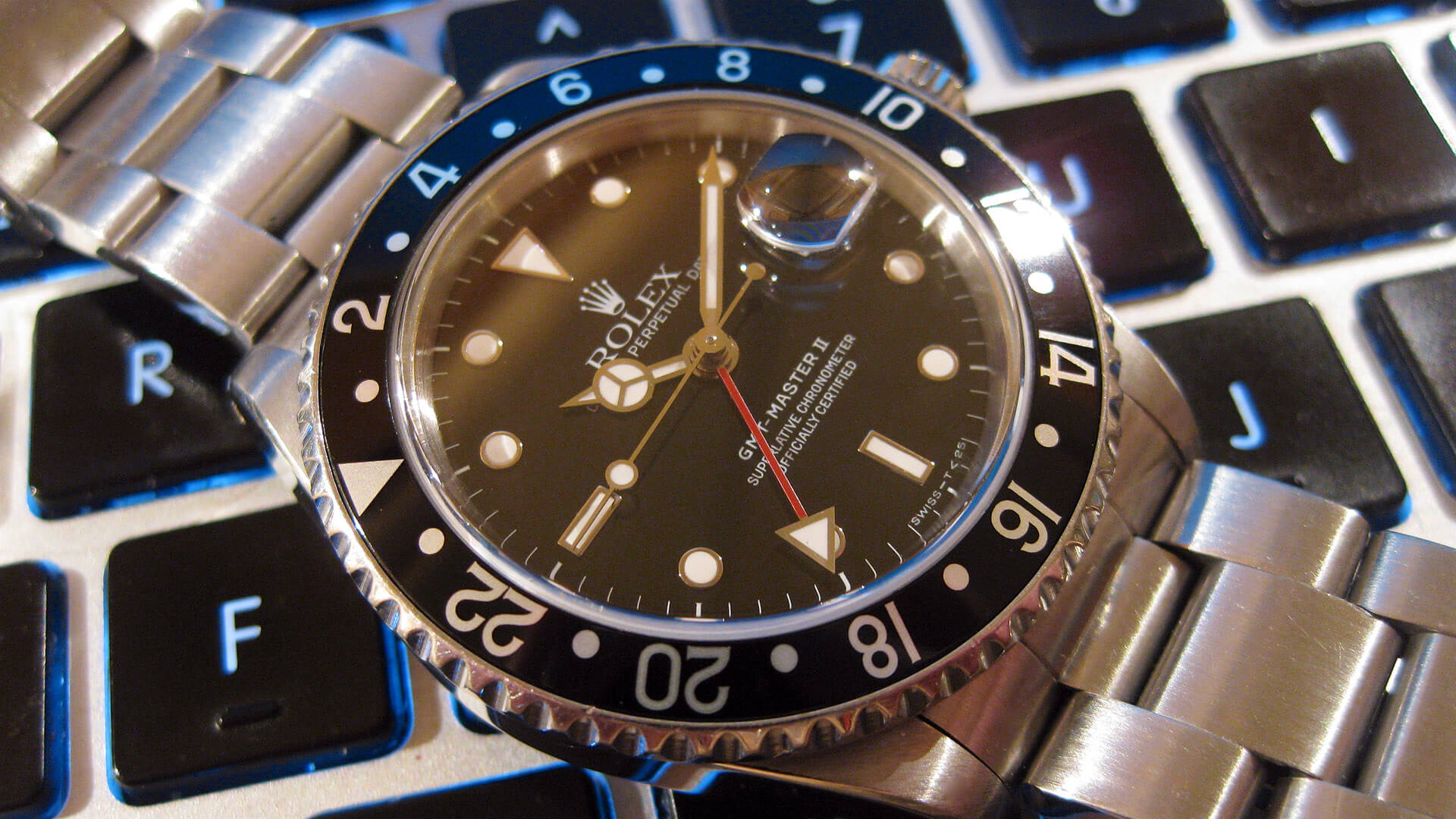 Image of Rolex GMT II - circa 1989 with black bezel