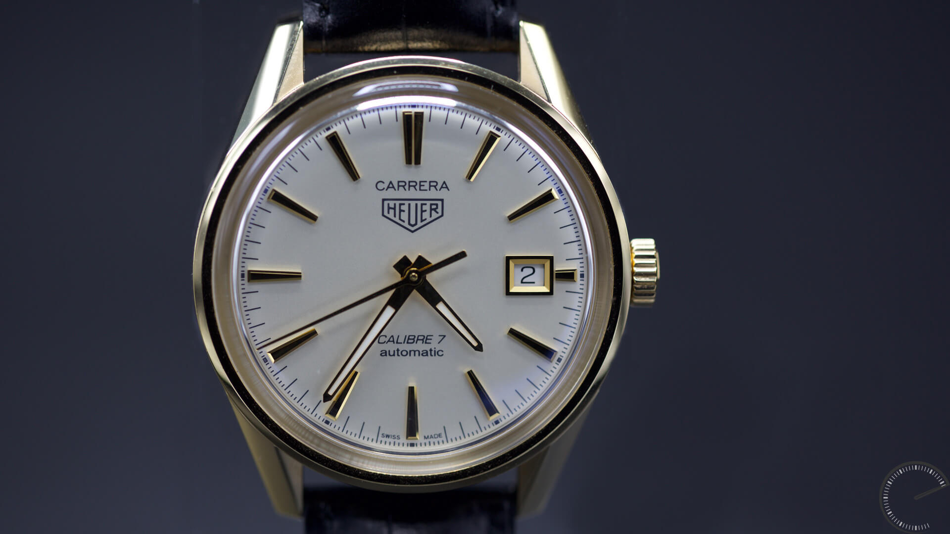 TAG_Heuer_CARRERA_100M_Calibre_7_Glassbox_39MM_dial1 - ESCAPEMENT MAGAZINE - watch reviews by Angus Davies