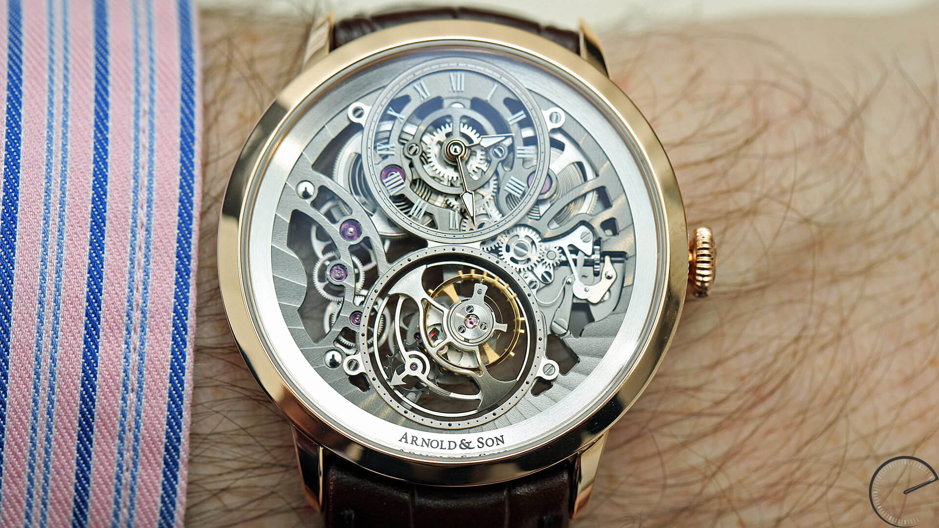 Image of Arnold & Son UTTE Skeleton - ultra-thin tourbillon