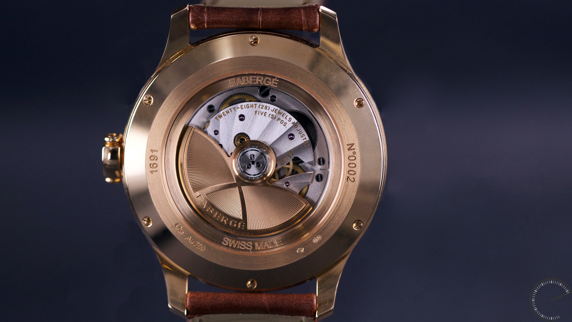 Image of Faberge Altruist luxury watch with guilloche dial