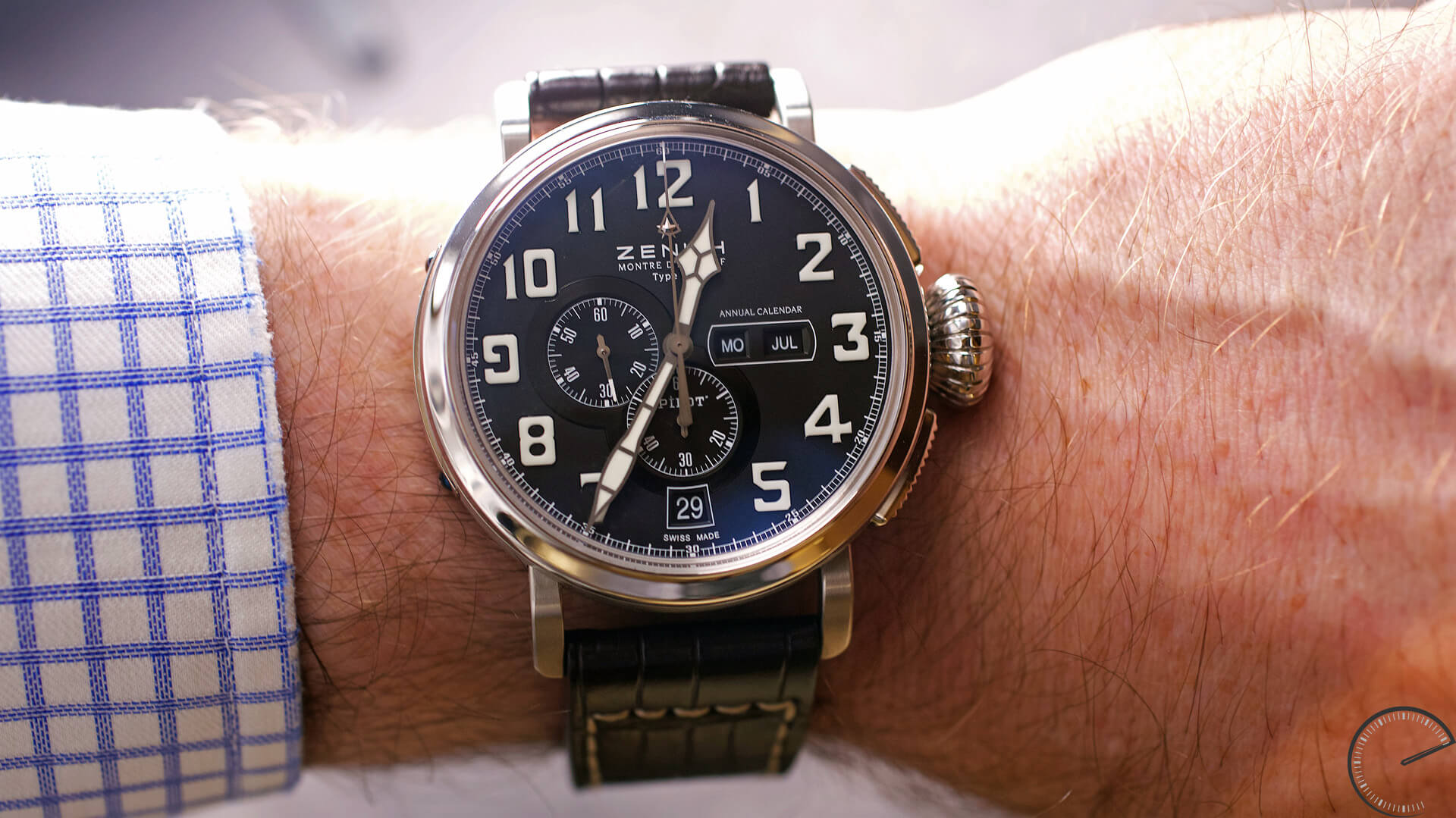 Image of Zenith Pilot Annual Calendar with chronograph