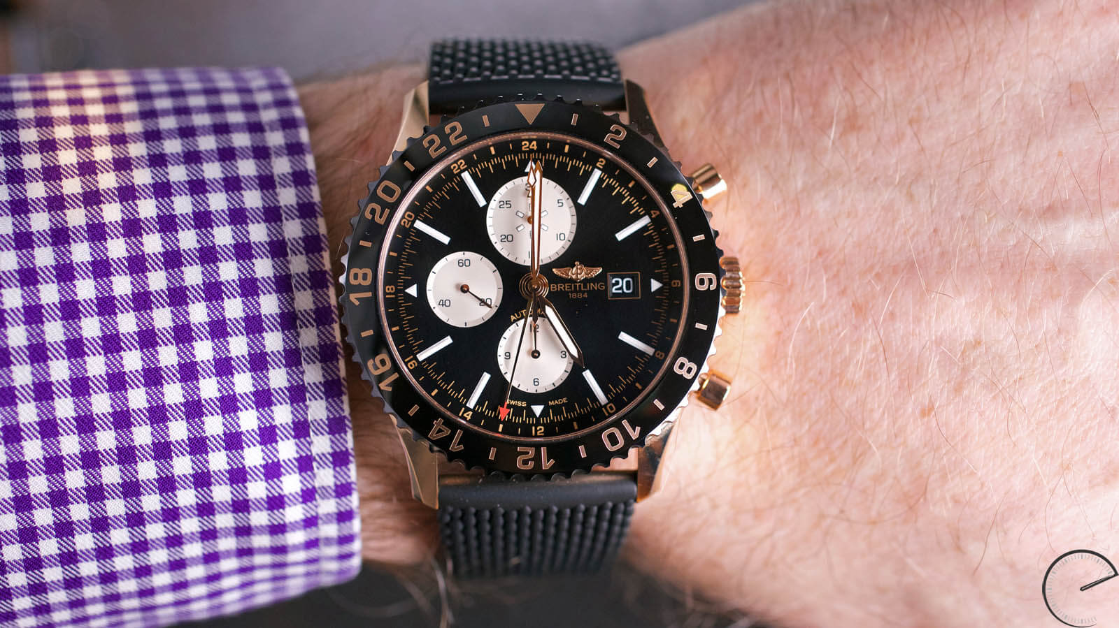 Image of Breitling Chronoliner Red Gold LImited Edition with ceramic bezel - chronograph & GMT