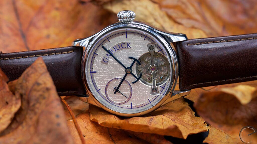 Garrick Portsmouth - featuring an exclusive hand-wound movement and, specifically, a prominent balance bridge