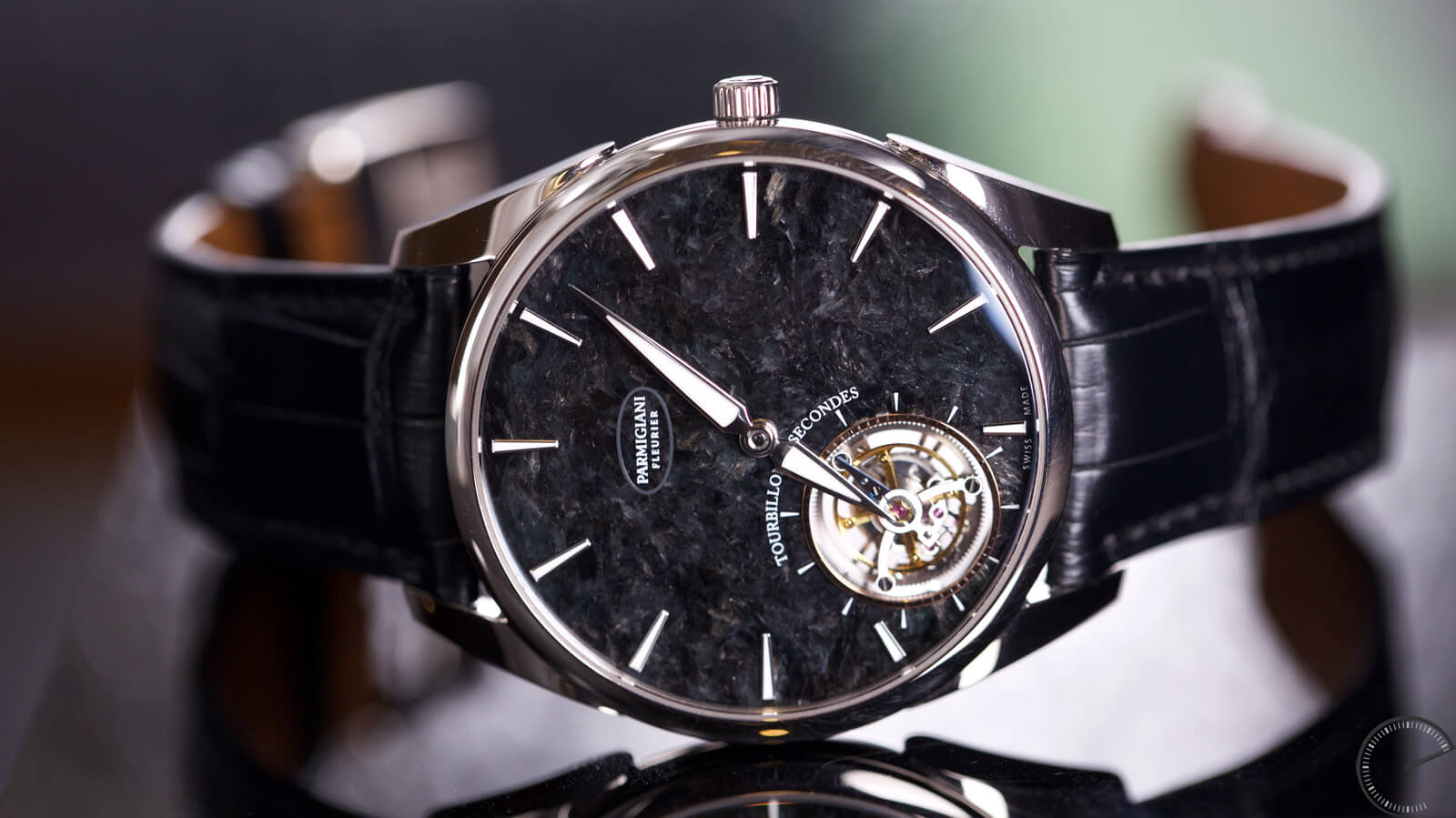 Image of Parmigiani Tonda 1950 Tourbillon with black jade dial