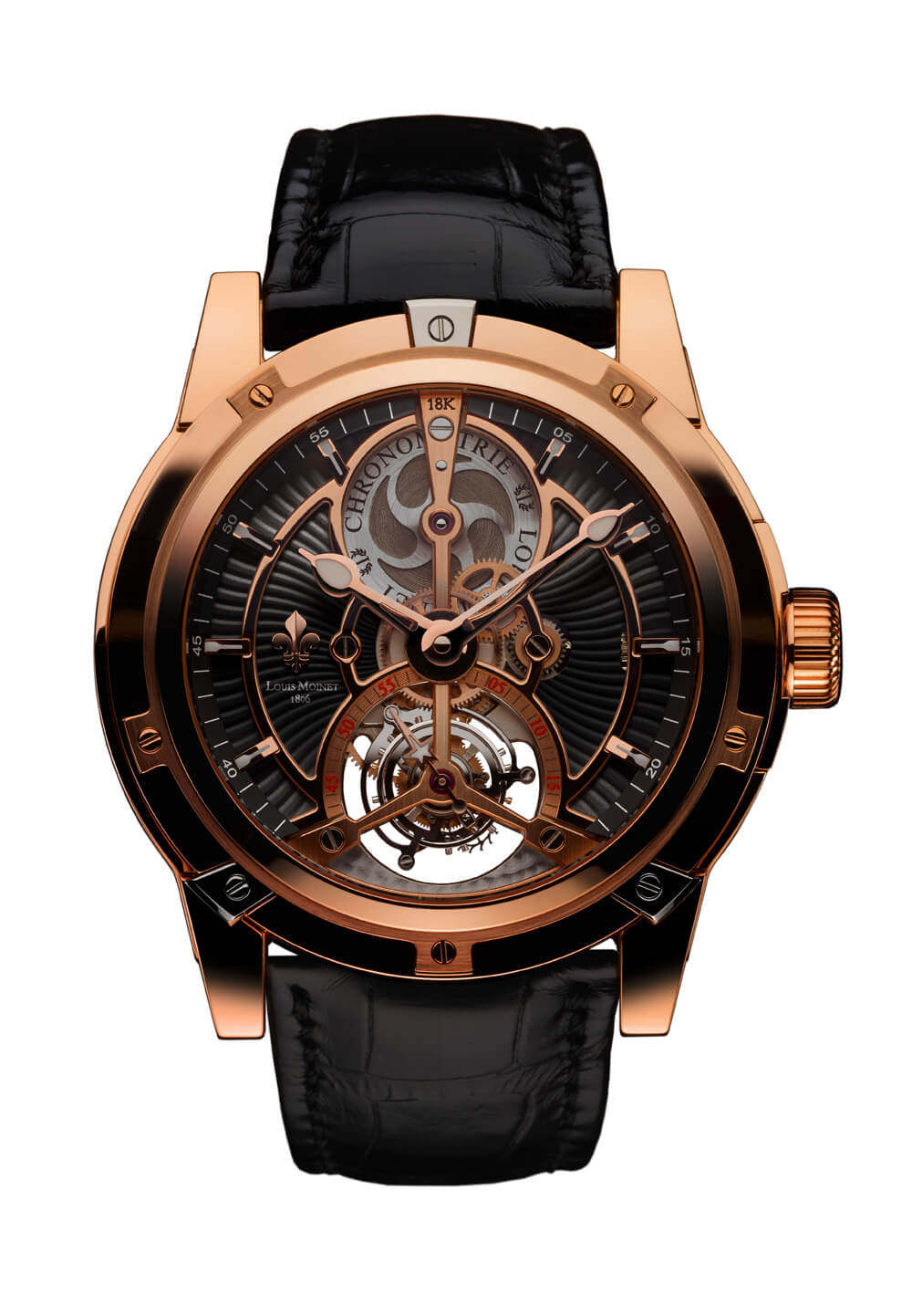 Louis Moinet Vertalor Tourbillon - rose gold complicated timepiece