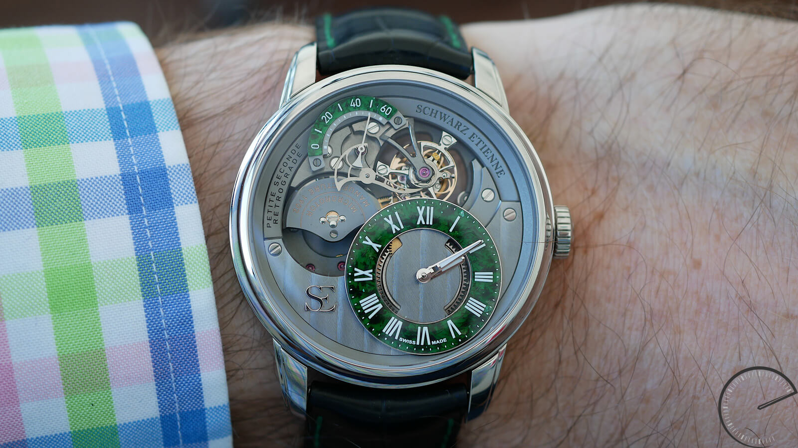 Schwarz Etienne La Chaux-de-Fonds Petite Seconde Rétrograde Tourbillon - timepiece with reversible tourbillon and retrograde small seconds