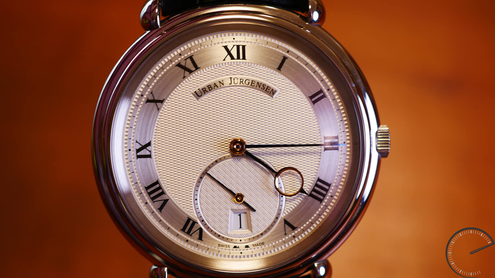 Urban Jurgensen Reference Big 8 Stainless Steel - timepiece with guilloche dial and small seconds