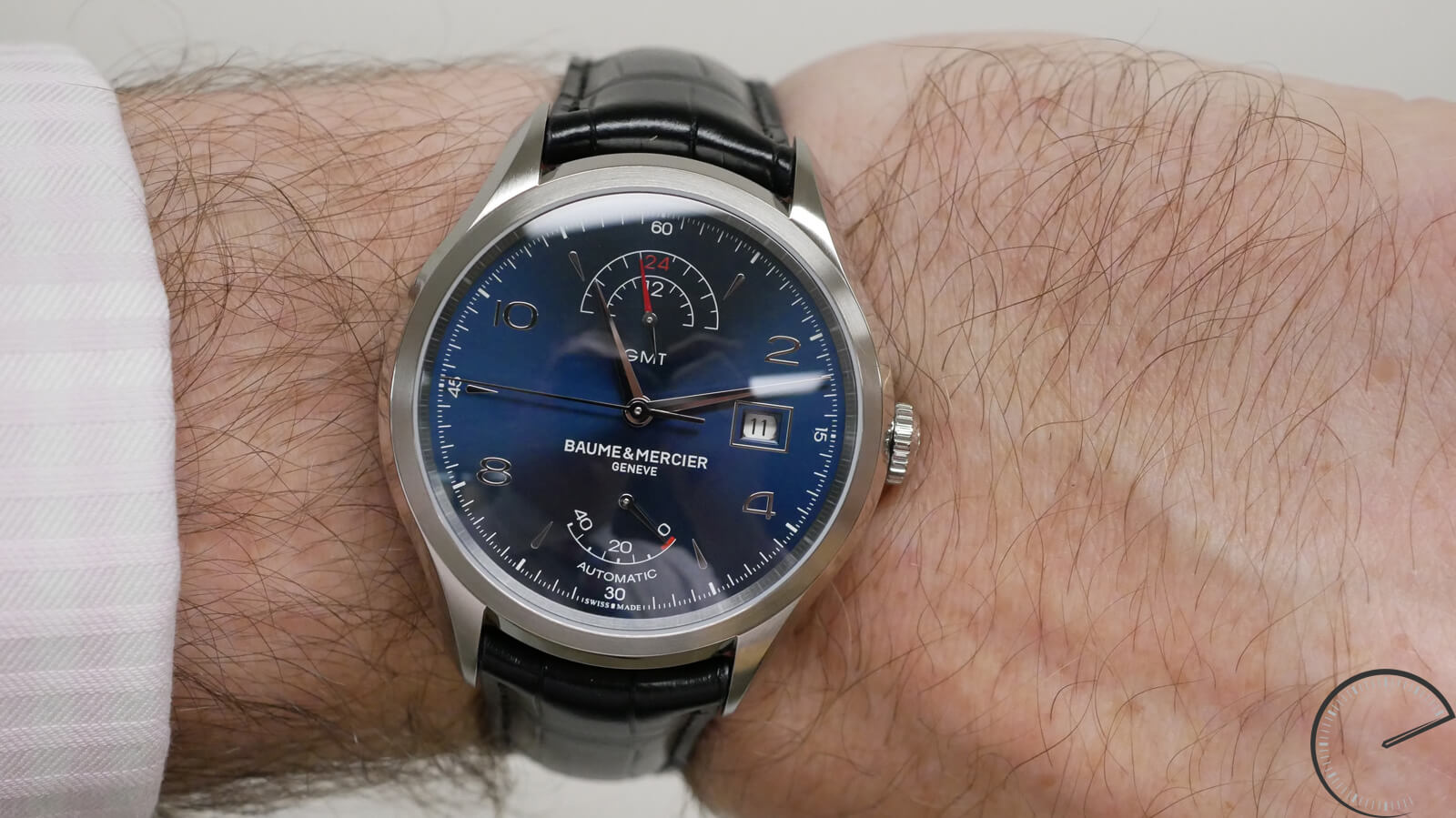 afc12e0bc6b Baume et Mercier GMT Power Reserve - affordable timepiece with blue sunray  dial