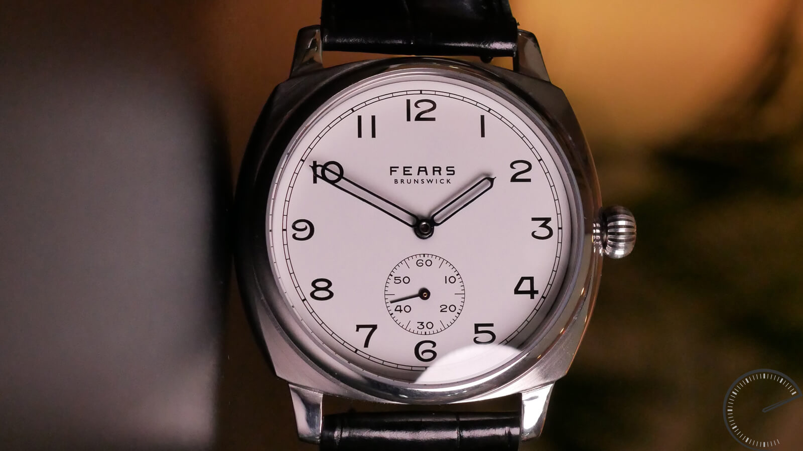 Fears Brunswick - British watch with small seconds and cold resin enamel dial