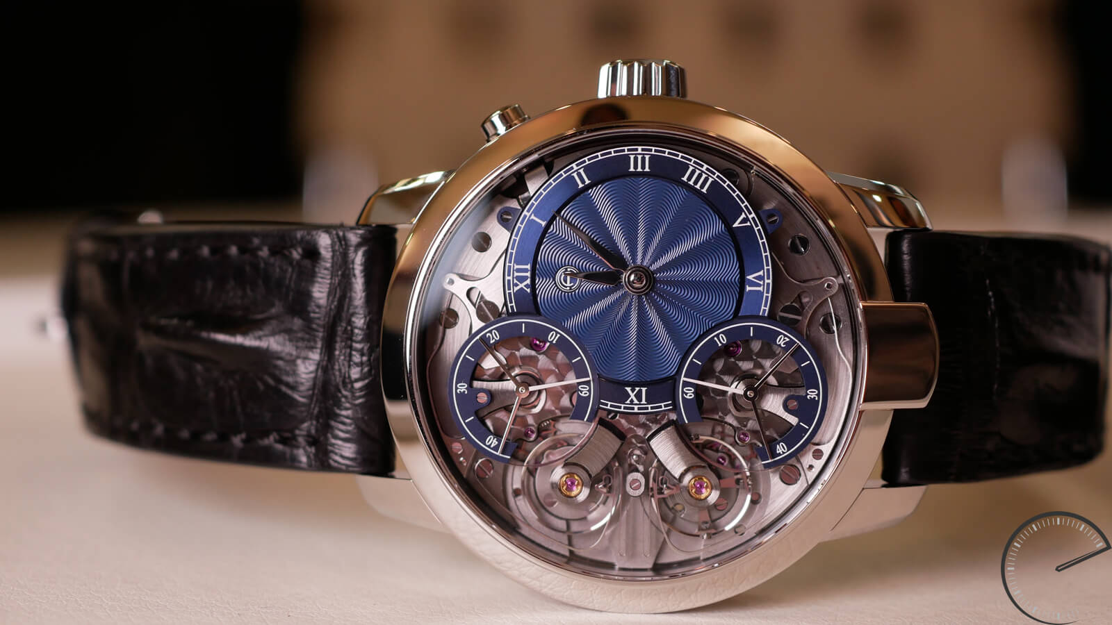Armin Strom Mirrored Force with steel case and guilloche dial and manufacture movement