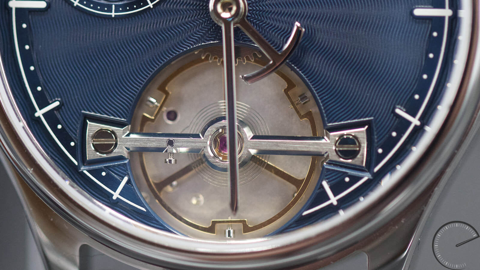 Garrick Portsmouth Mark 2 with guilloche dial and dial-side balance