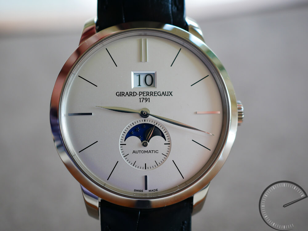 Girard-Perregaux 1966 Large Date and Moon Phases - 41mm white gold case with small seconds display
