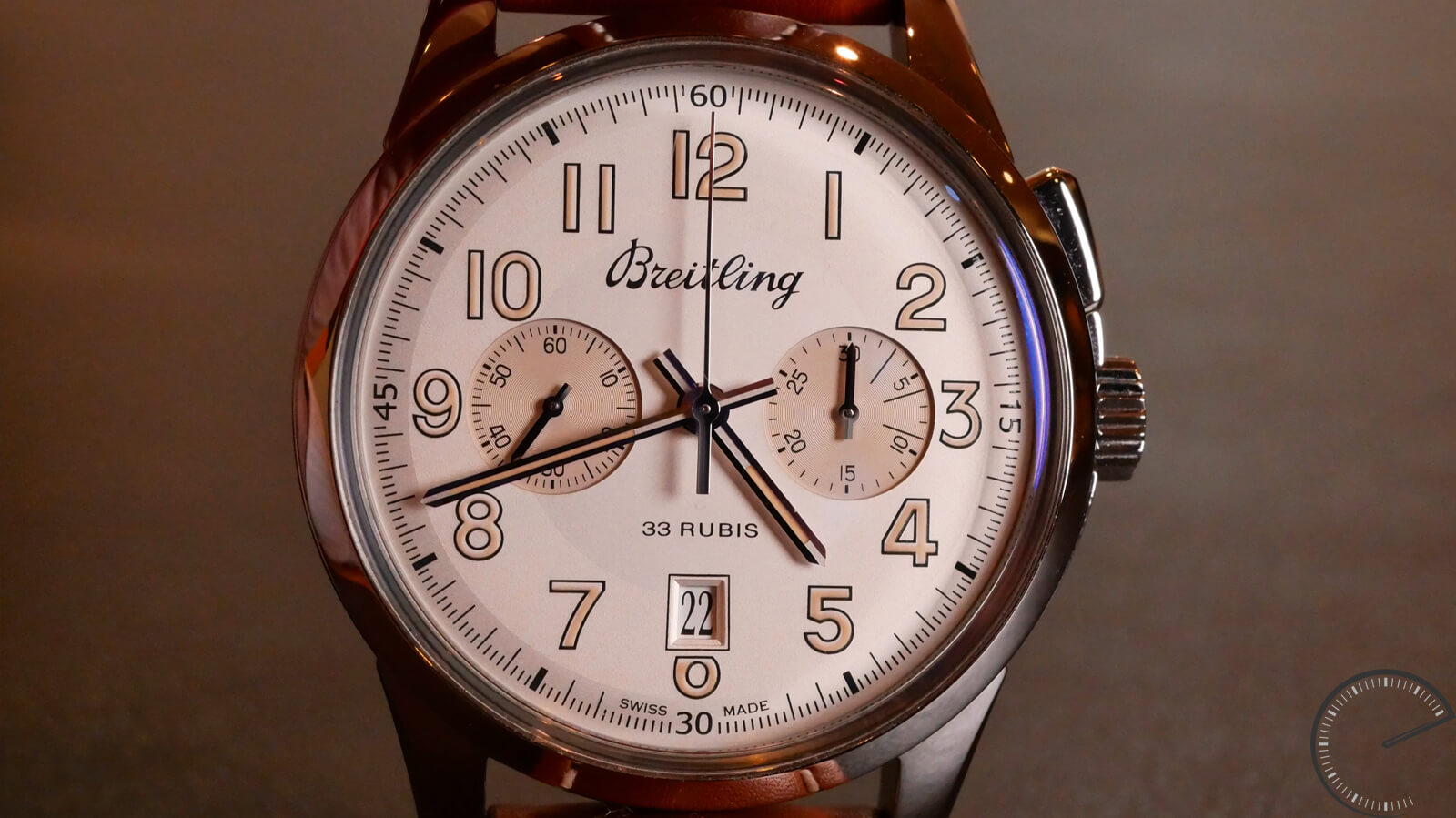 Breitling Transocean Chronograph 1915 - monopusher chronograph with double column-wheel