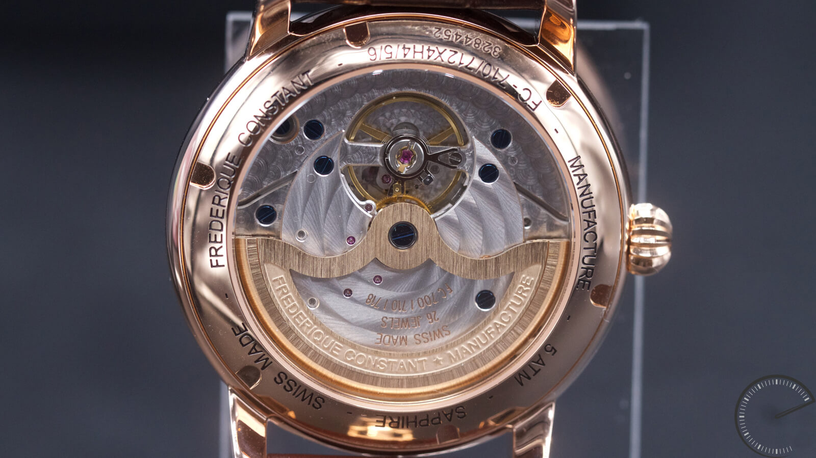 Frederique Constant Manufacture Classic - classically styled timepiece with guilloche pattern dial and Manufacture movement