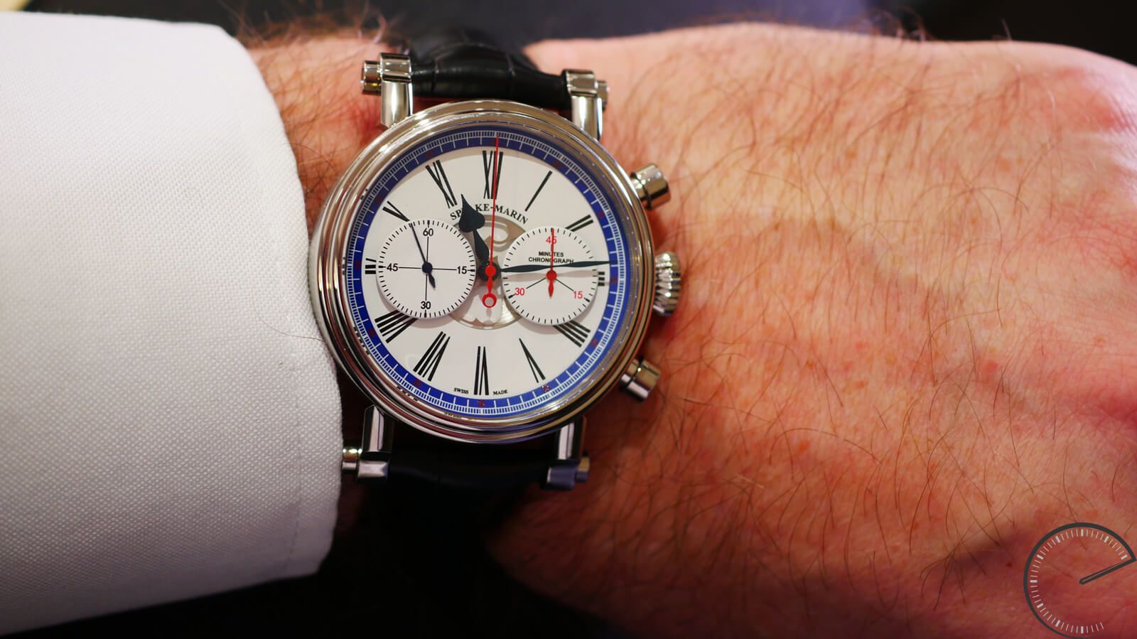 Speake-Marin London Chronograph featuring Valjoux 92 column-wheel chronograph