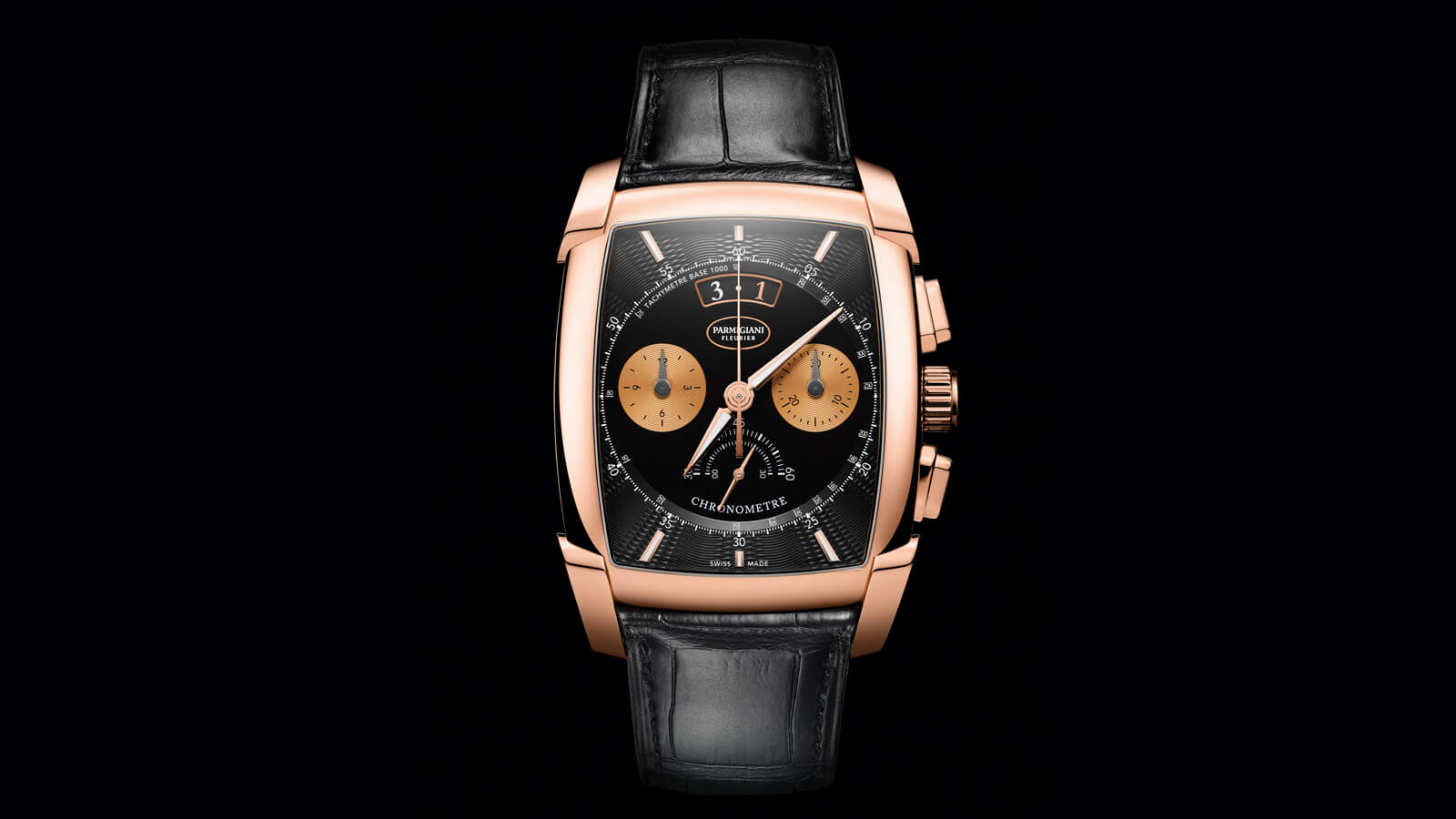 Parmigiani Fleurier Kalpa Chronor featuring gold movement