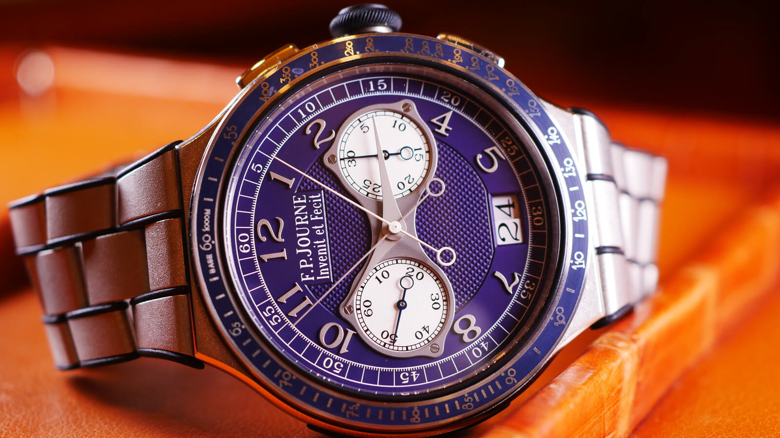 F.P. Journe Chronographe Monopoussir Rattrapante - split-seconds chronograph with monopusher and large-date display
