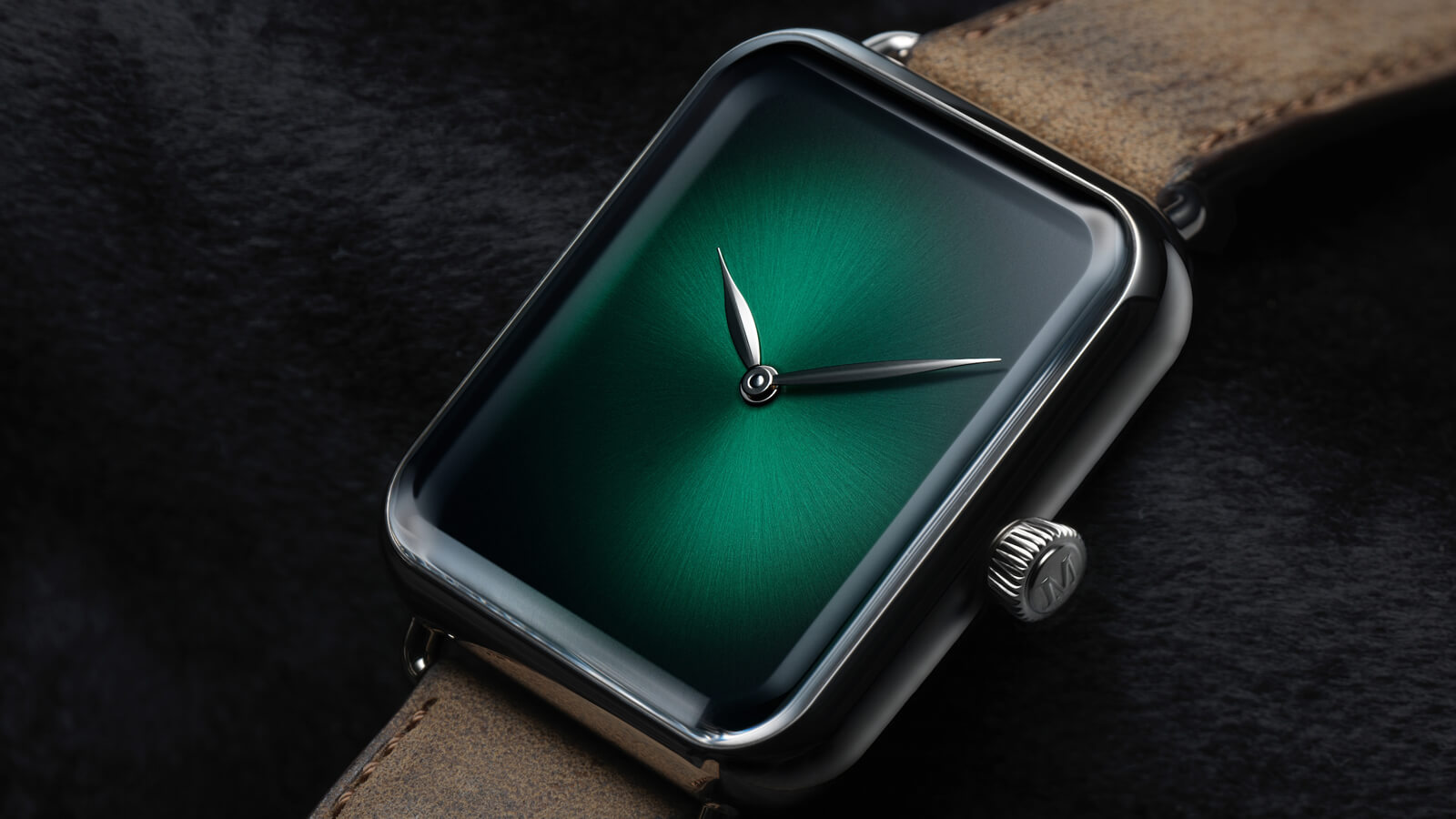 H. Moser Swiss Alp Watch Concept Cosmic Green featuring the hand-wound HMC 324 Manufacture calibre
