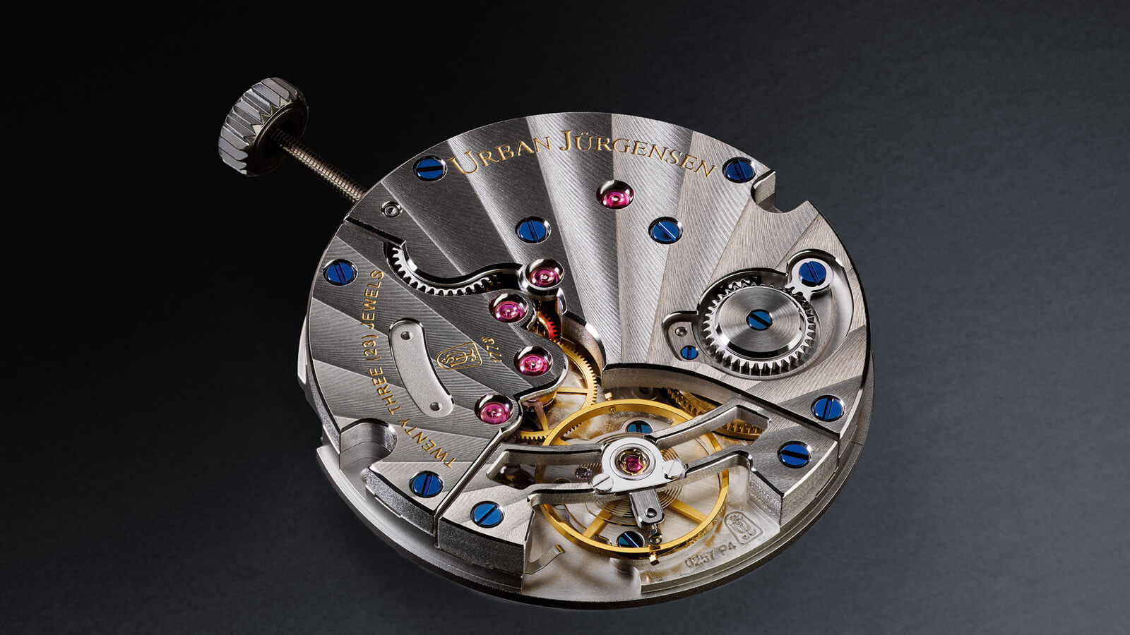 Urban Jürgensen Jules Collection Reference 2140 WG featuring hand-wound P4 movement and black guilloché dial